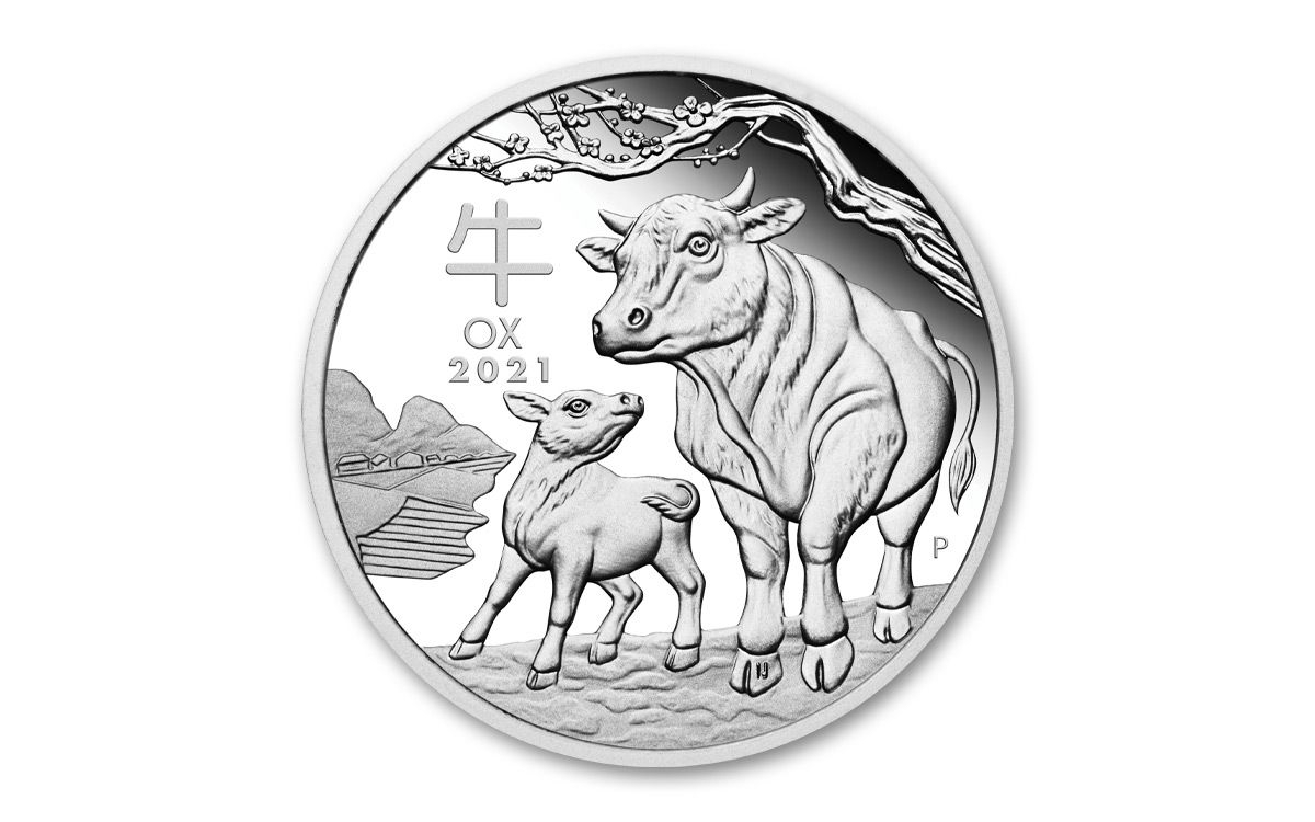 2021 Australia $1 1-Oz Silver Lunar Year Of The Ox Proof | Govmint