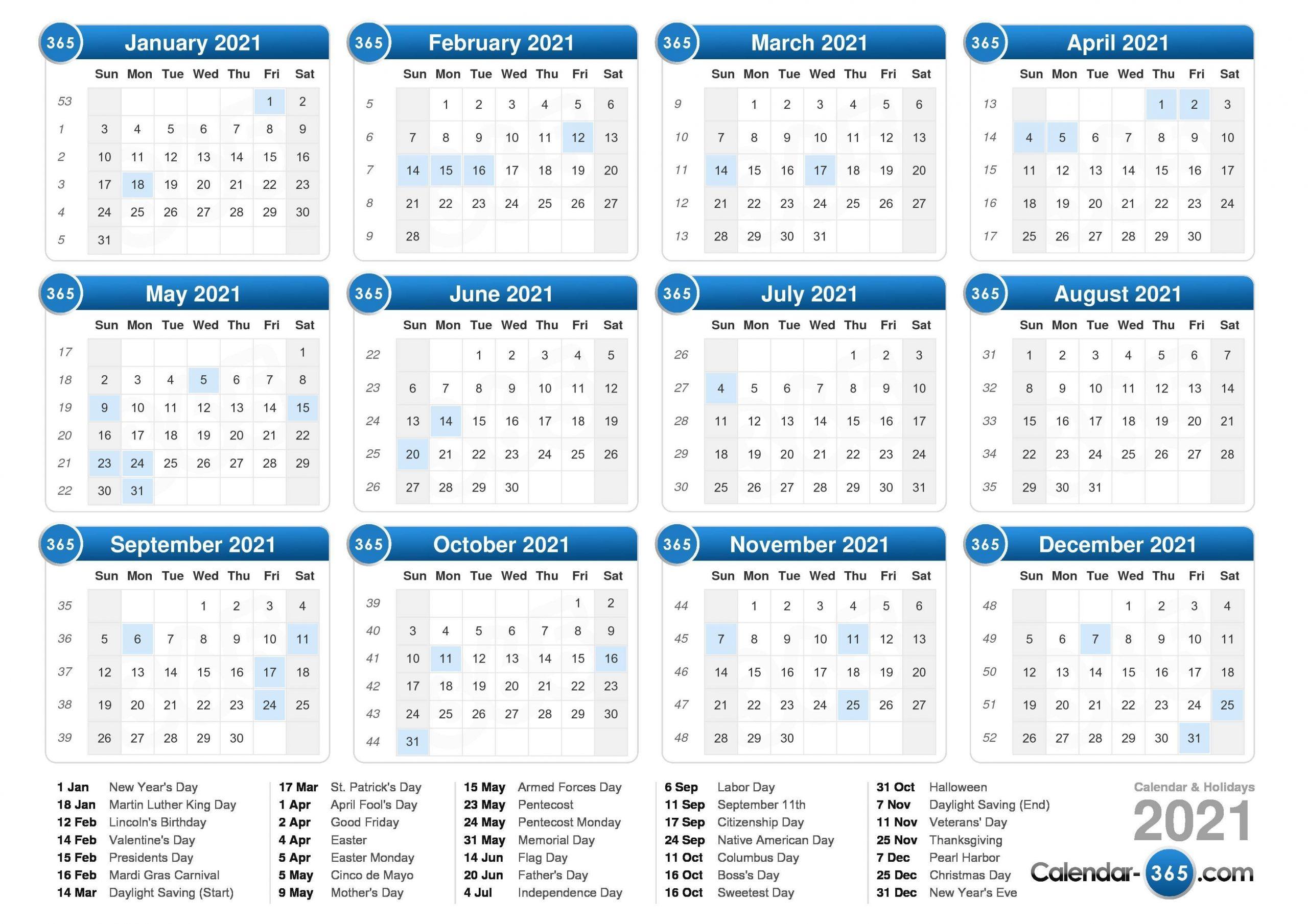 Weekwise 2021 Calender Pdf