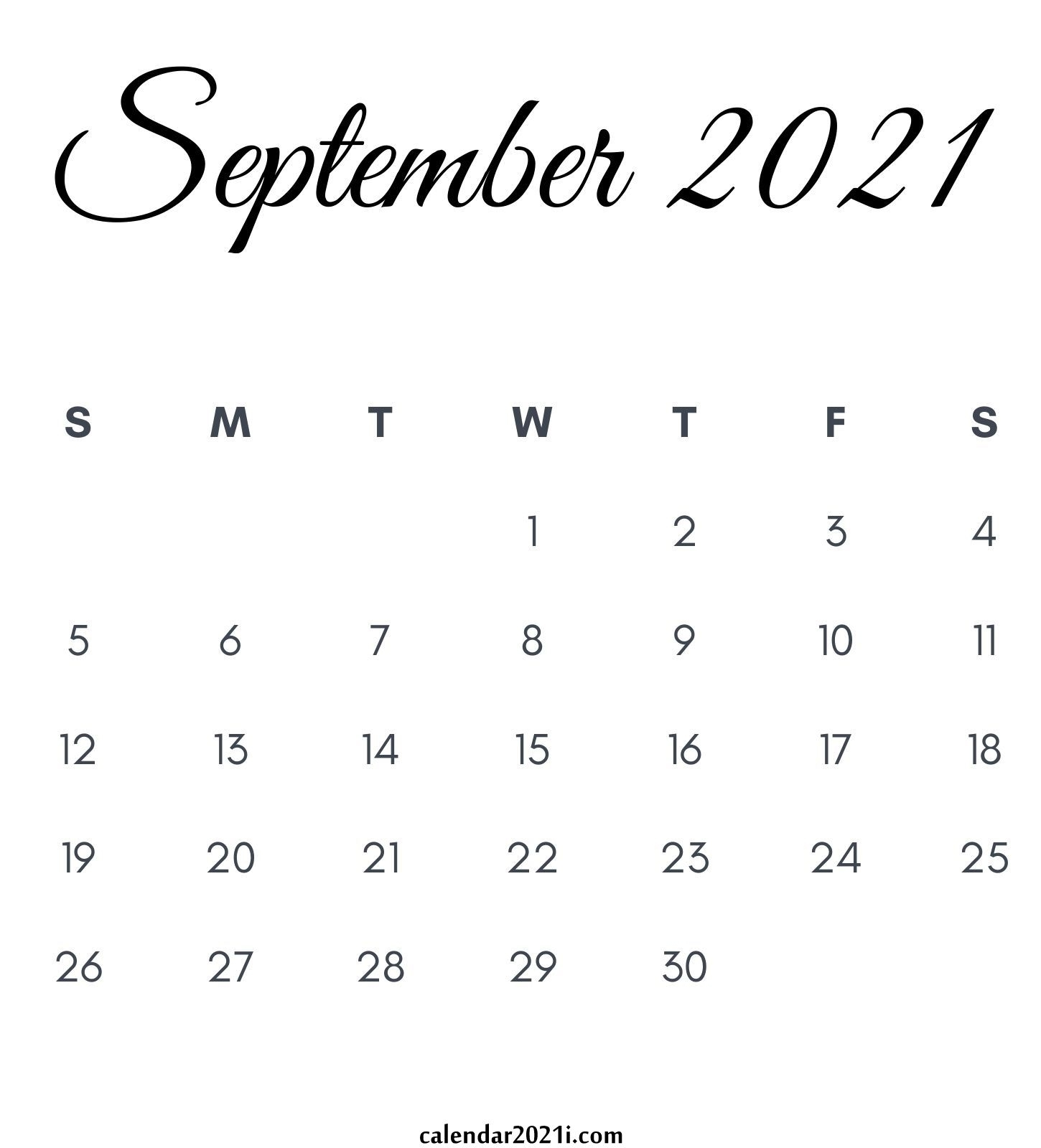 2021 Calendar Monthly Printable   Calendar 2021