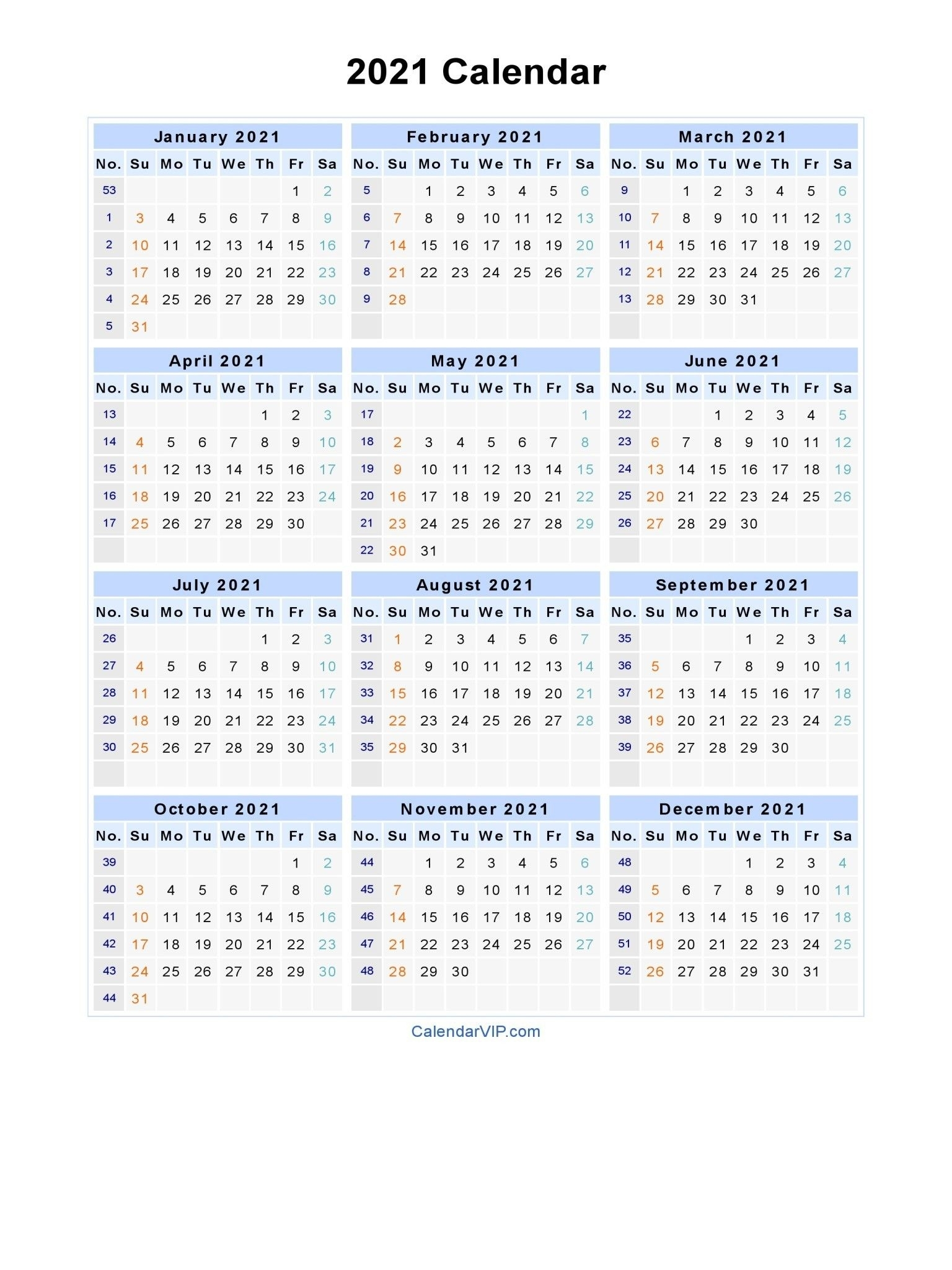 2021 Calendar With Week Numbers Excel Full – Encouraged In