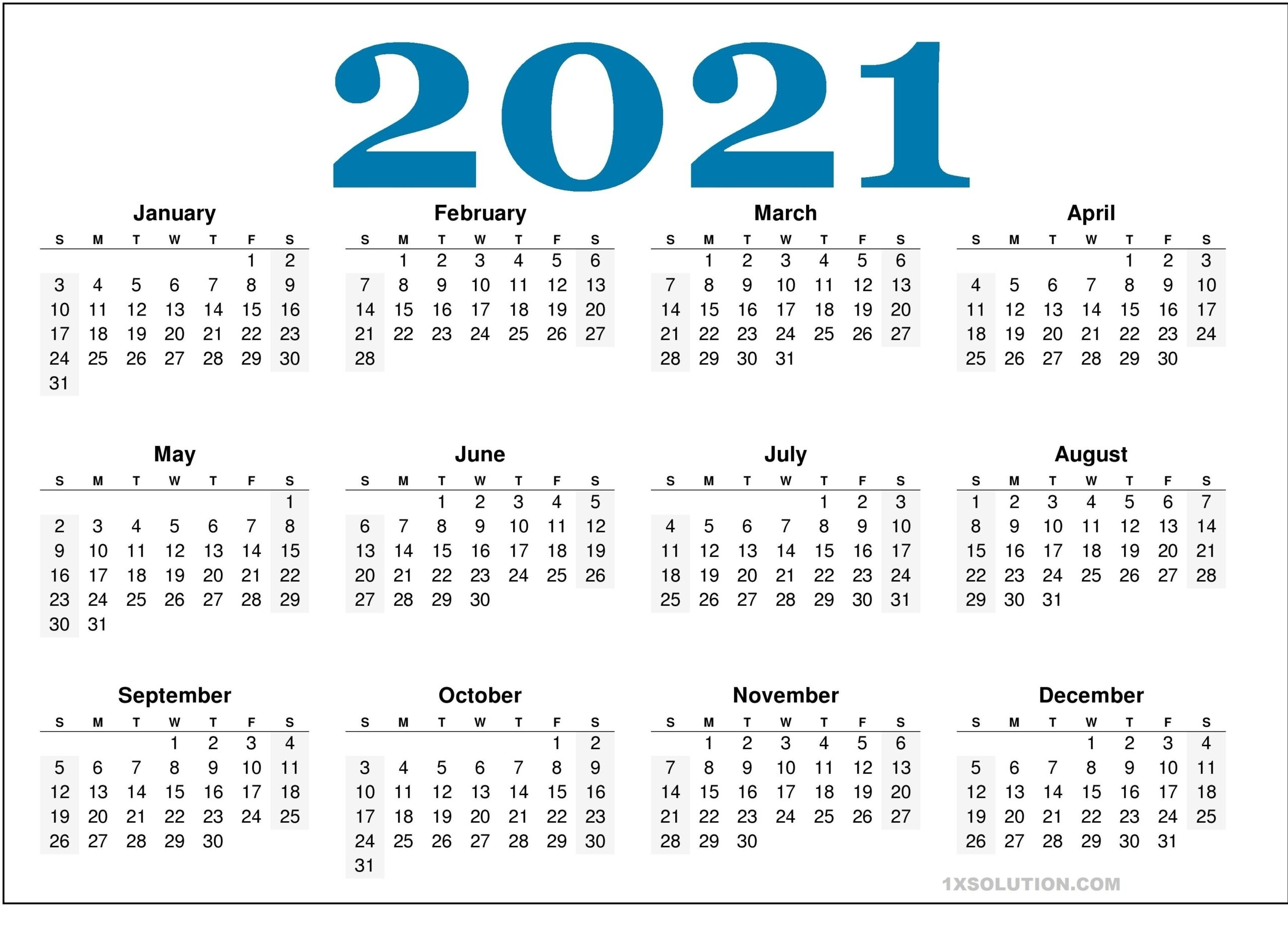 2021 Daily Calendar: To Write Your Important Schedule