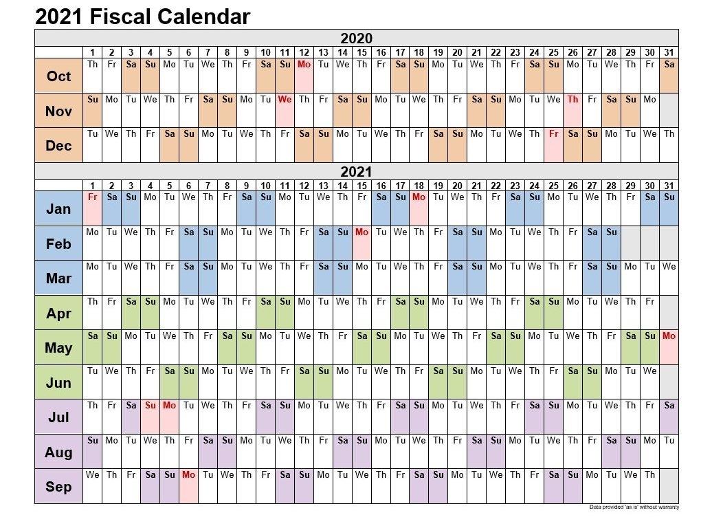 2021 Fiscal Calendar 4-4-5 | 2021Printablecalendar