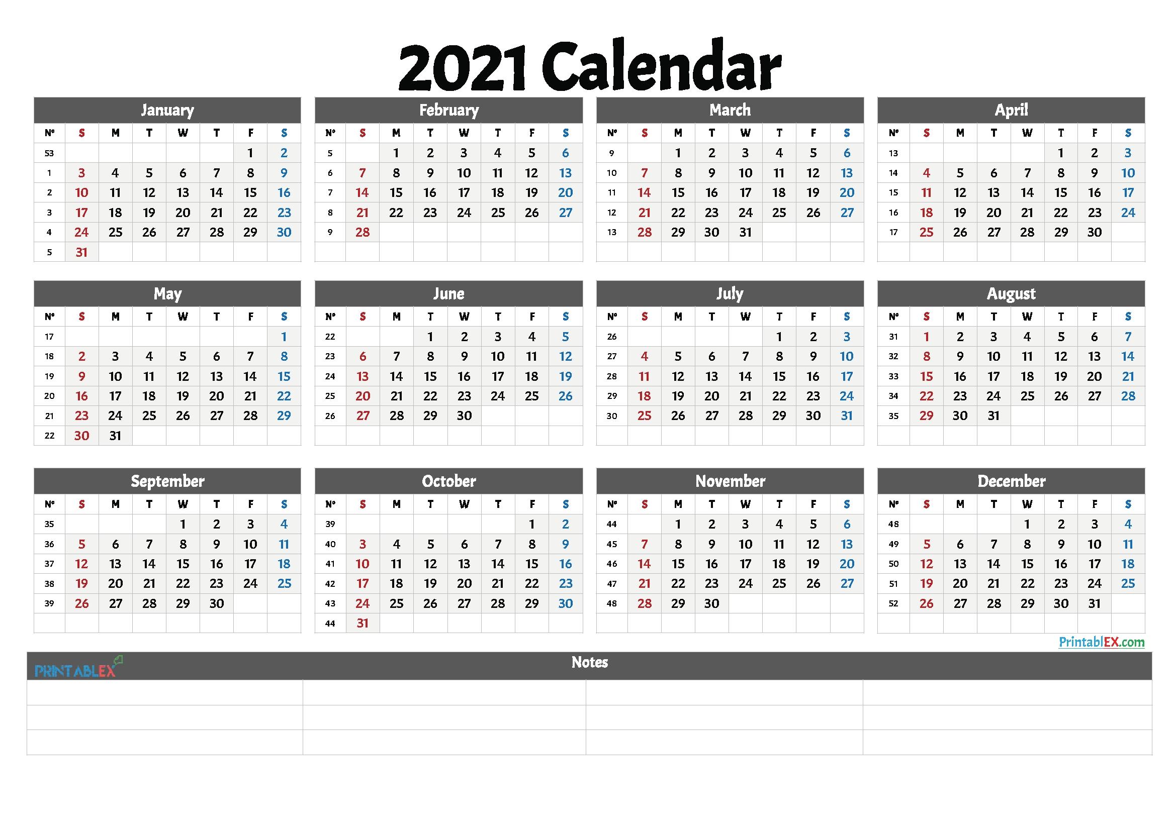 Week Calendar 2021 Pdf