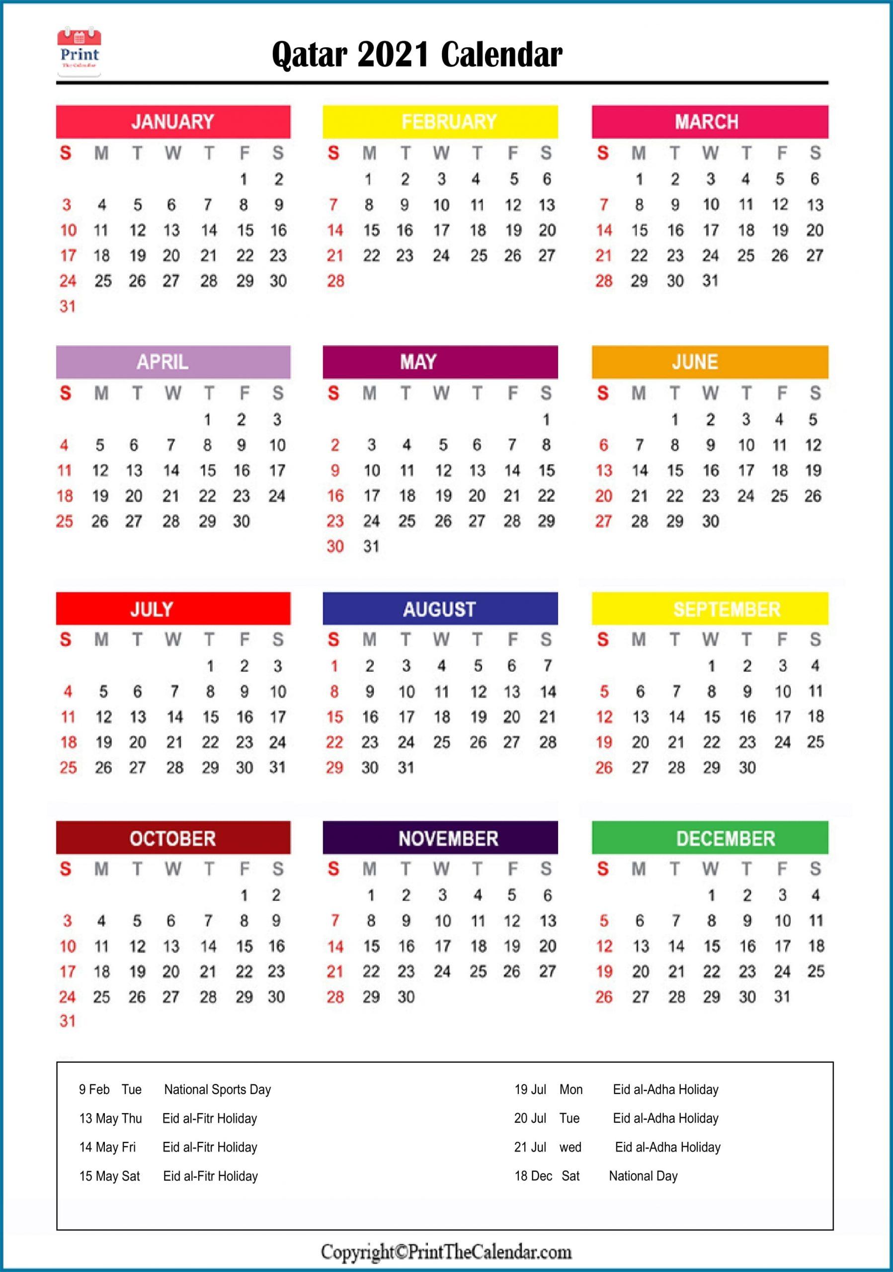 2021 Holiday Calendar Qatar | Qatar 2021 Holidays