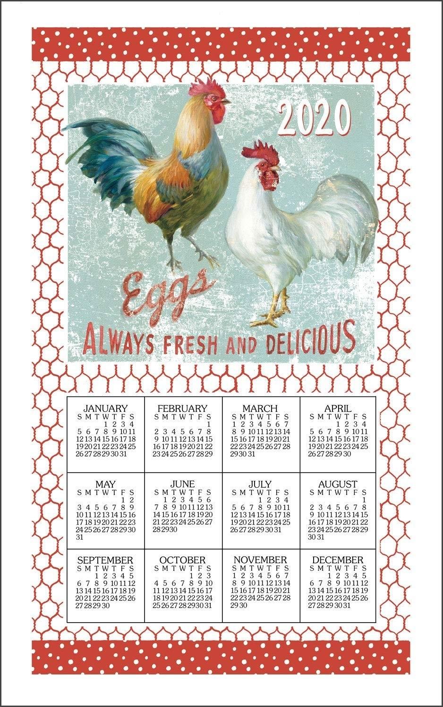 2021 Linen Calendar Towel - Farm Nostalgia - Walmart