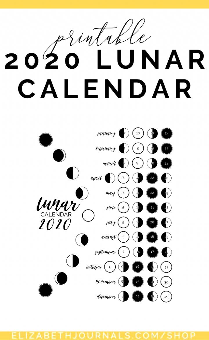 Zodiac Moon Calendar 2021