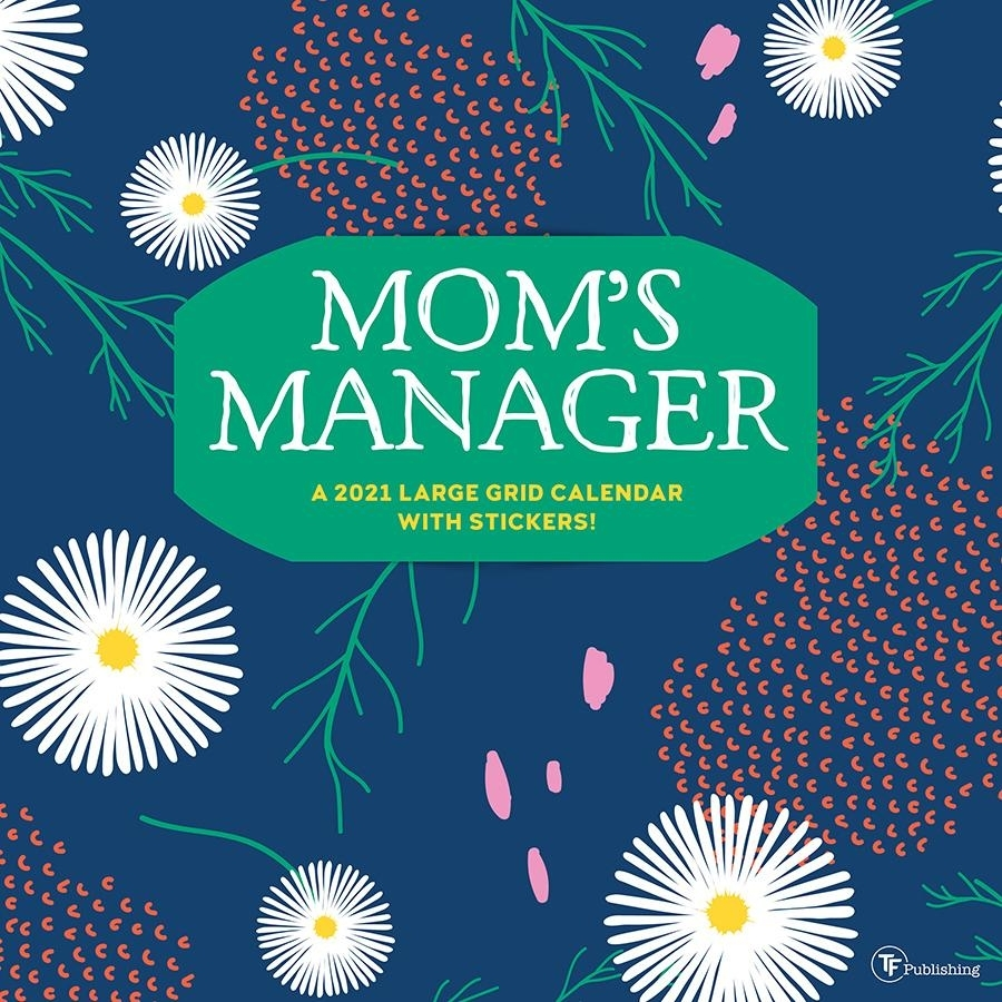 """2021 Mom'S Manager 12""""X12"""" Wall Calendar - Matte Paper, Family Planning And  Scheduling - Walmart"""