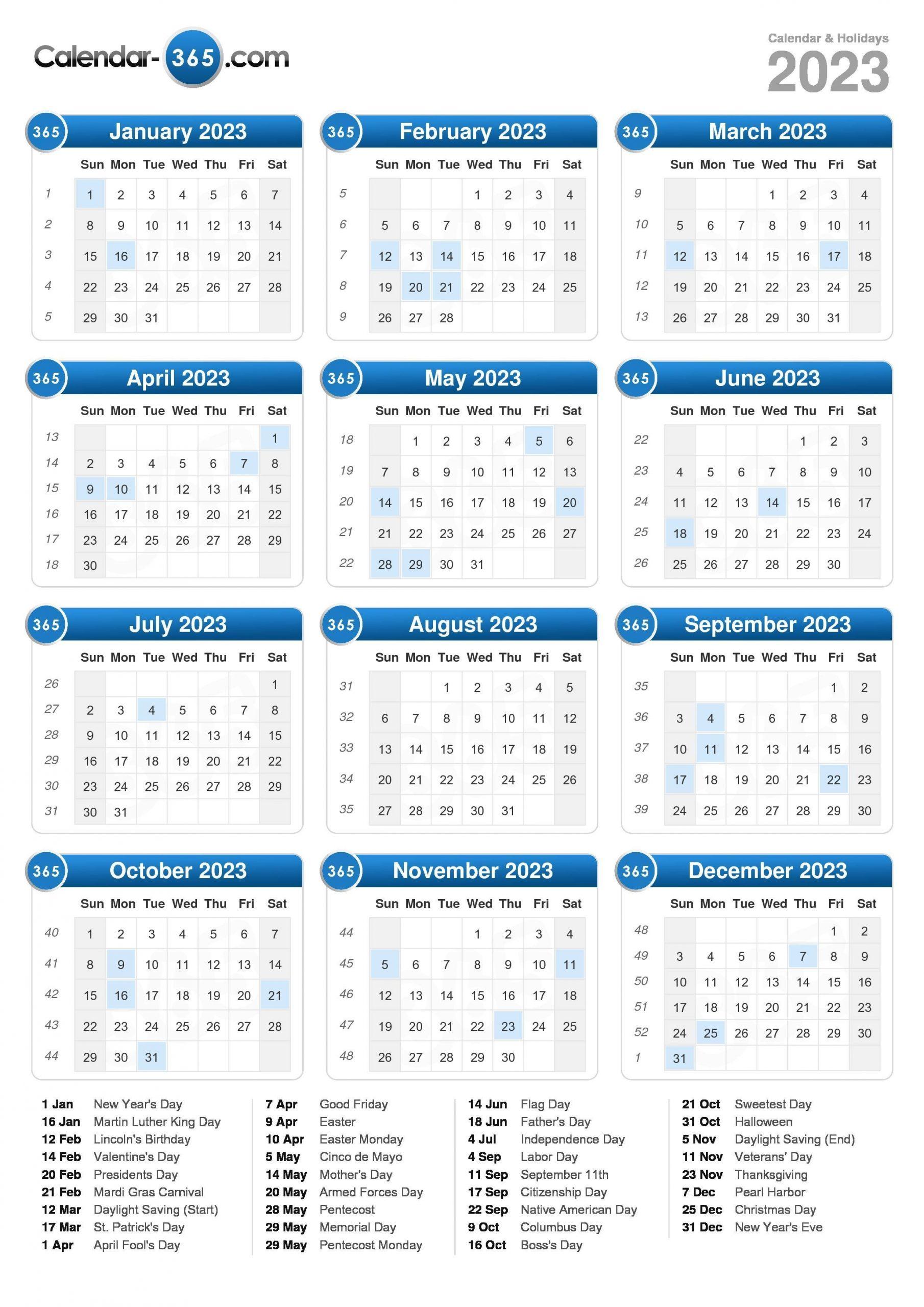 2023 Calendar