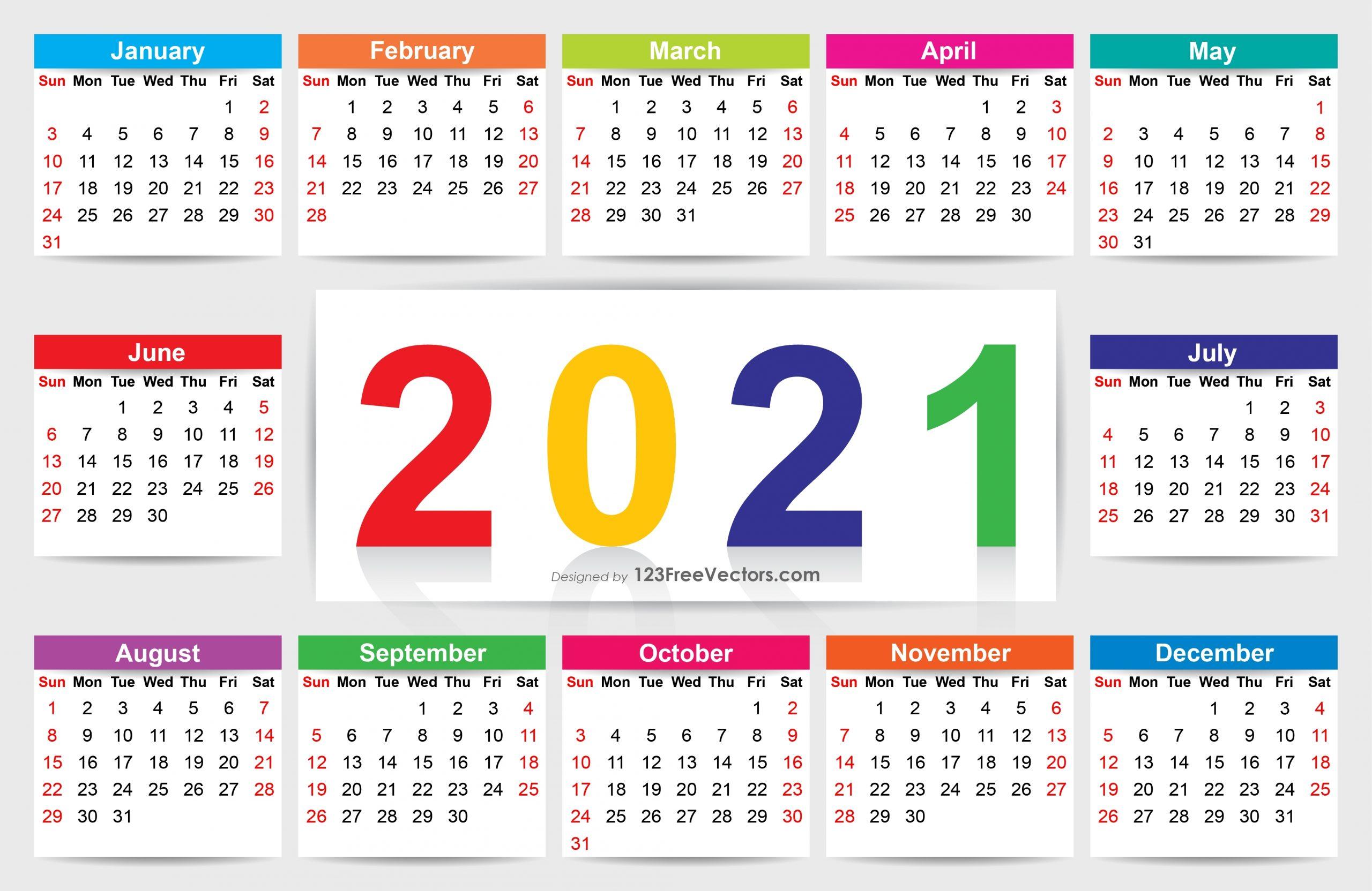 210+ 2021 Calendar Vectors   Download Free Vector Art