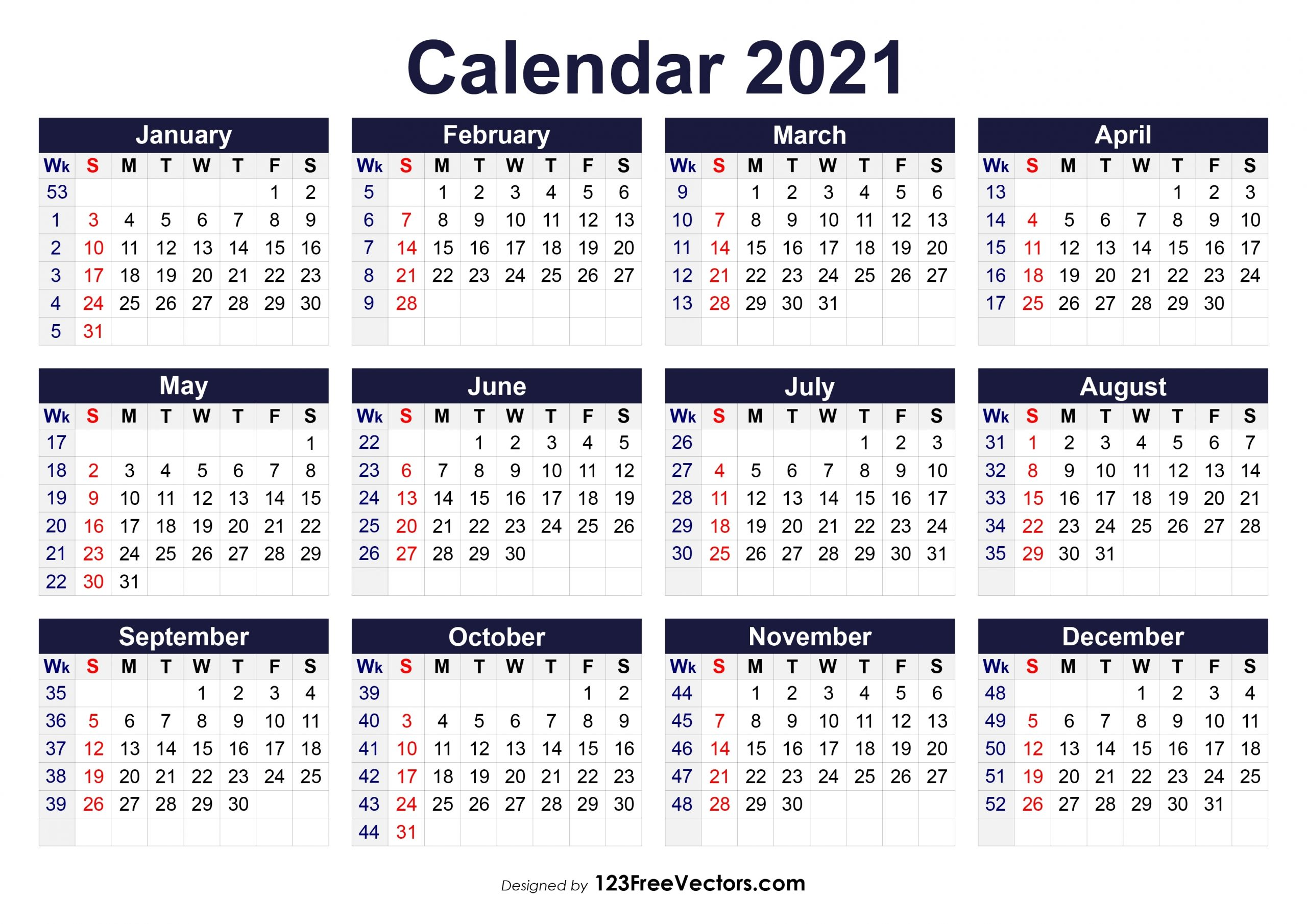 210+ 2021 Calendar Vectors | Download Free Vector Art