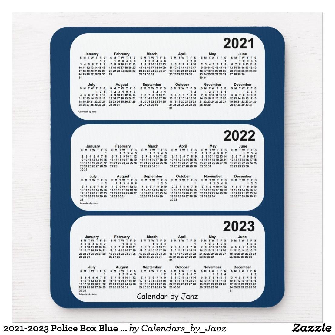 3 Year Calendar Diary 2021-2023 Blue Office Supplies
