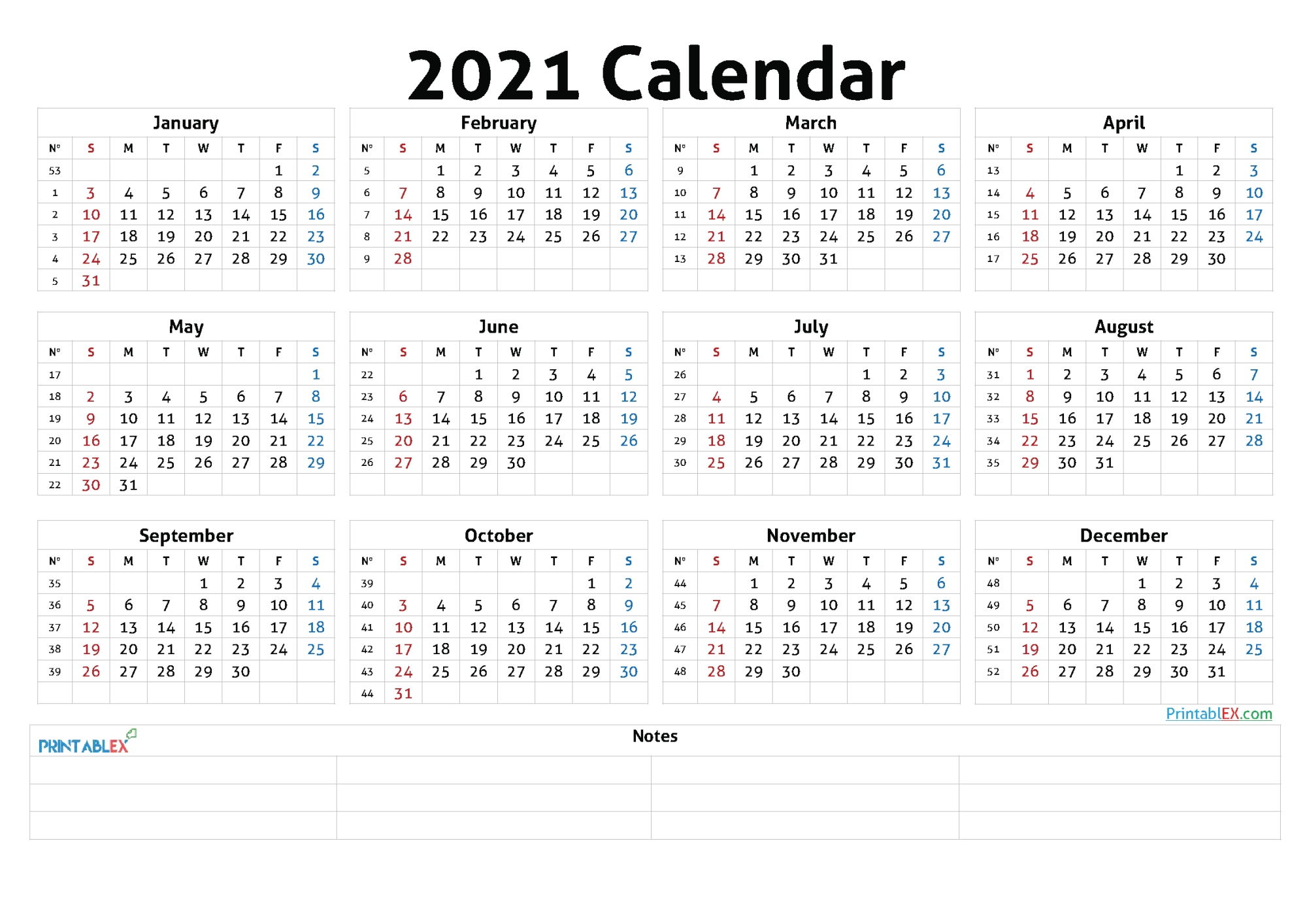 50 Best Printable Calendars 2021 (Both Free And Premium)