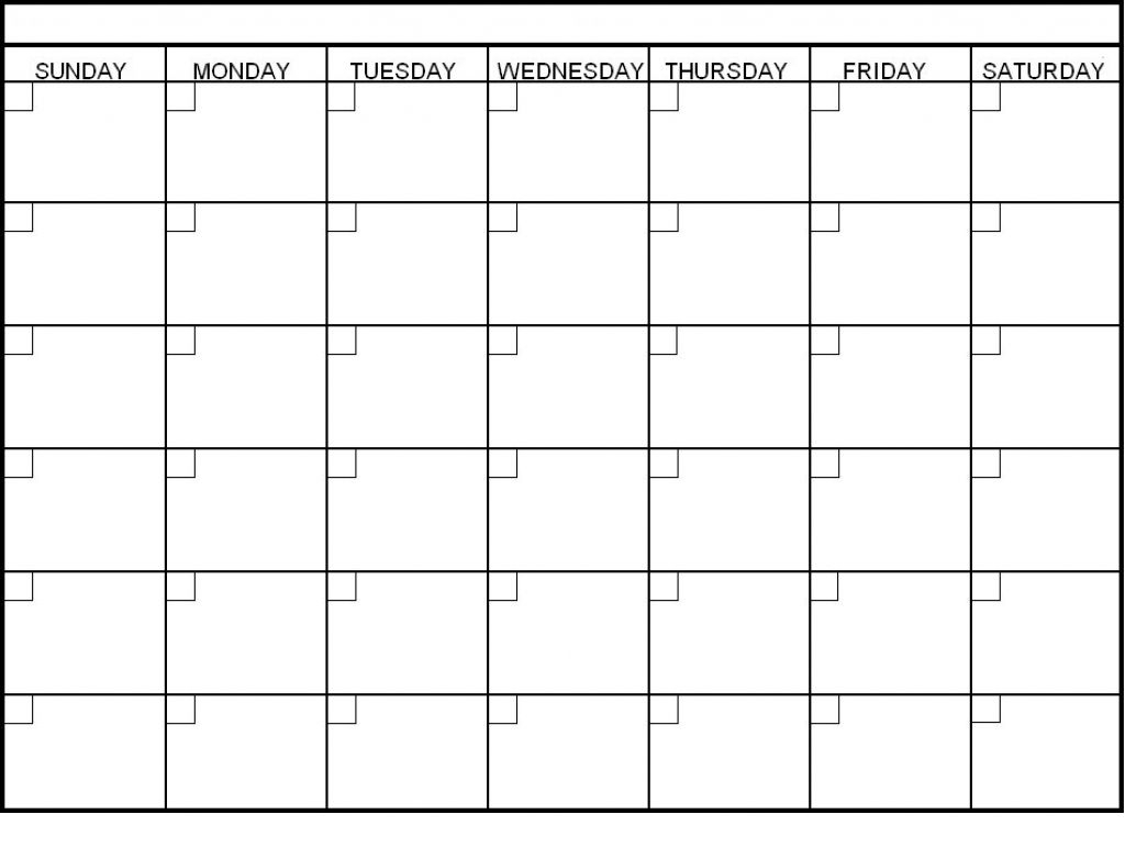 6 Week Printable Calendar In 2020 | Blank Calendar Template