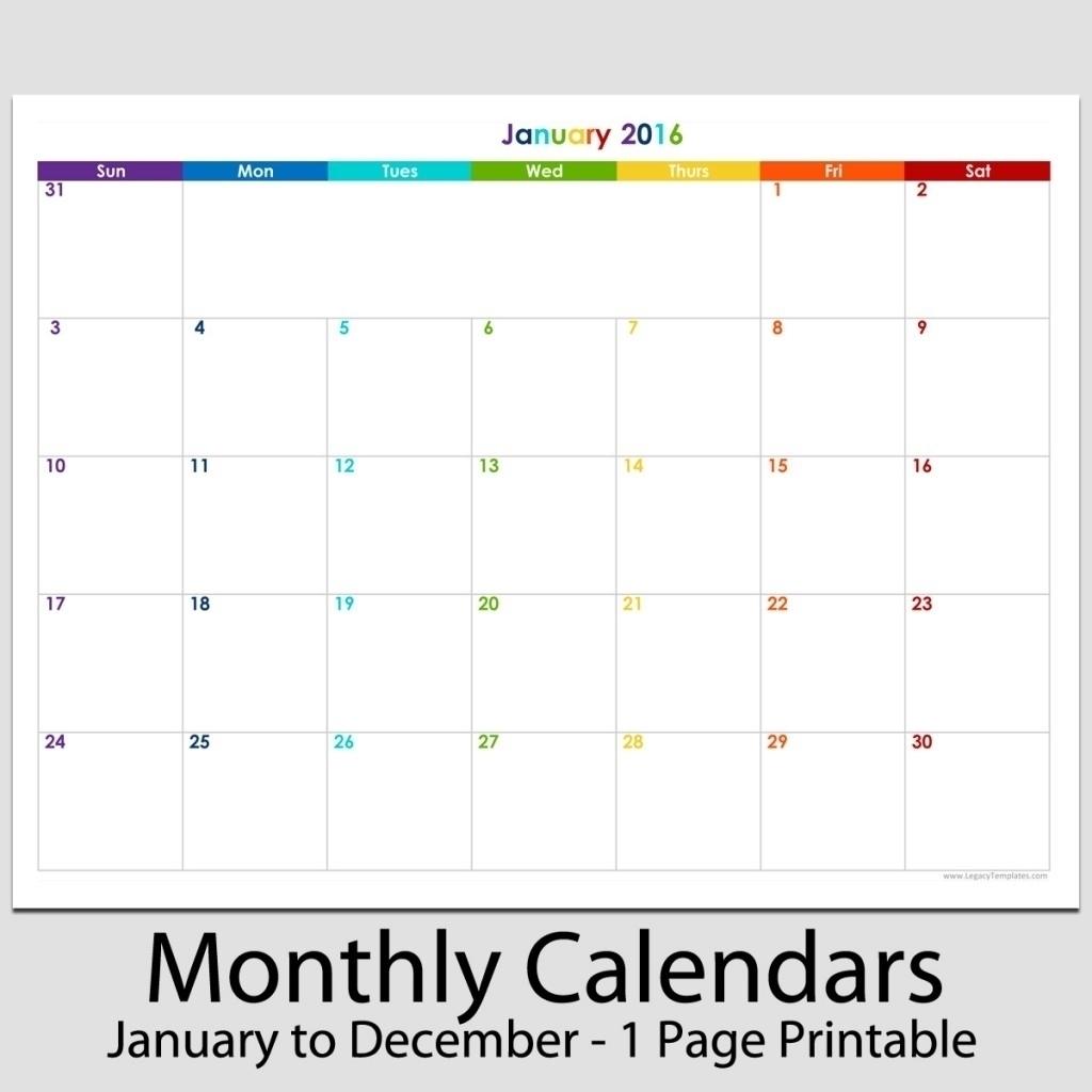8.5 X 11 Calendar Template - Calendar Inspiration Design