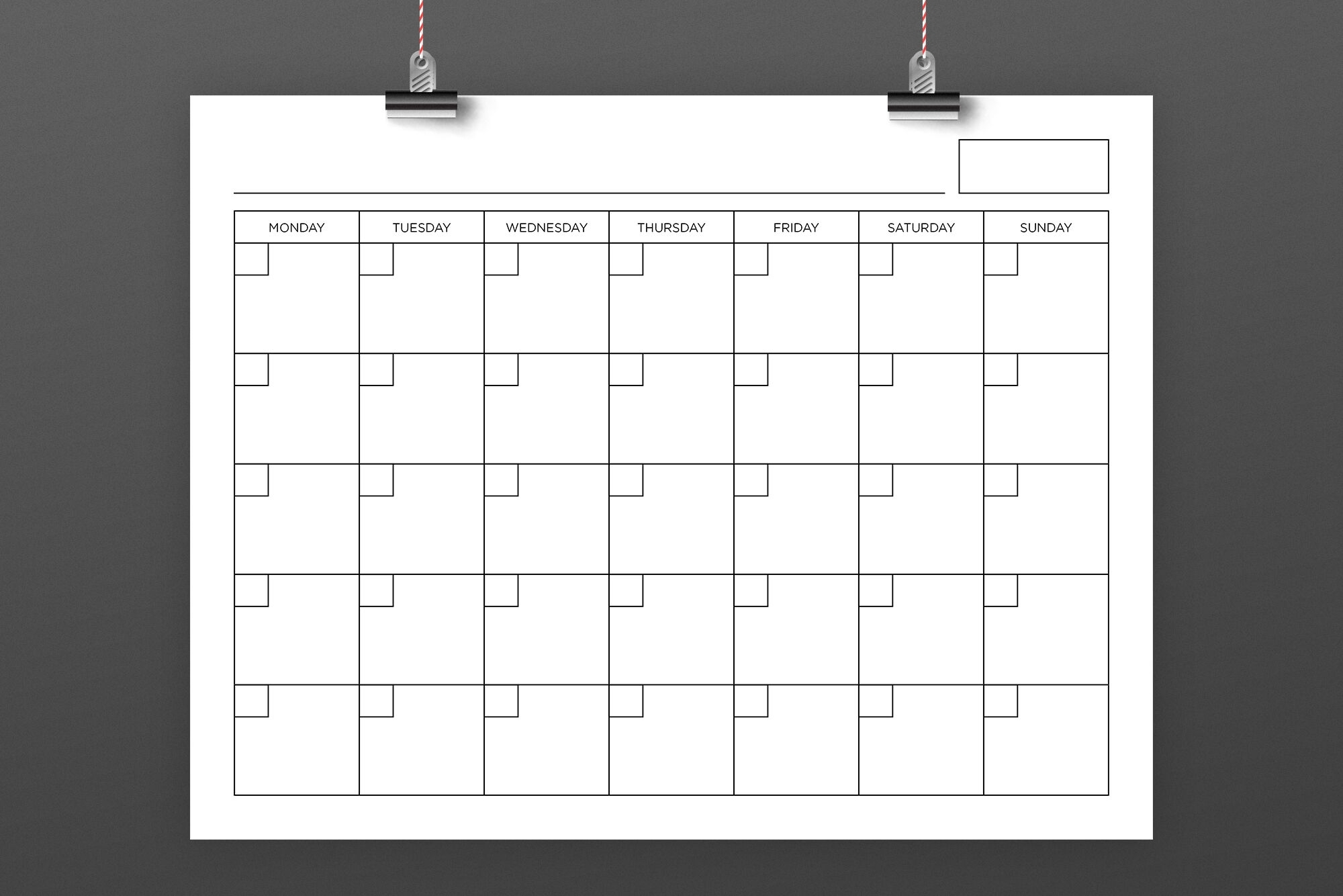 8.5 X 11 Inch Blank Calendar Page Templaterunning With