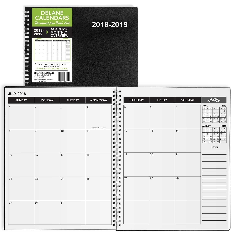 8.5 X 11 Monthly Calendar In 2020 | Daily Calendar Template