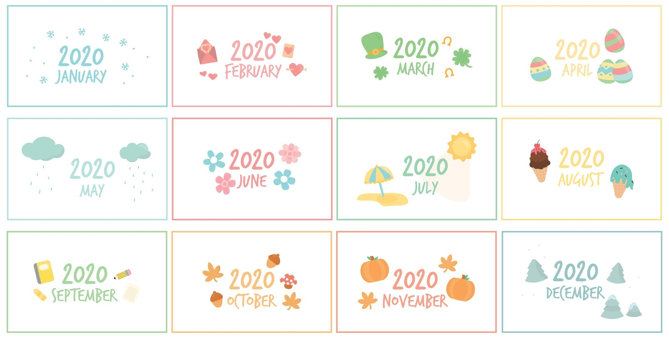 8 Best Printable Calendar Month Labels - Printablee