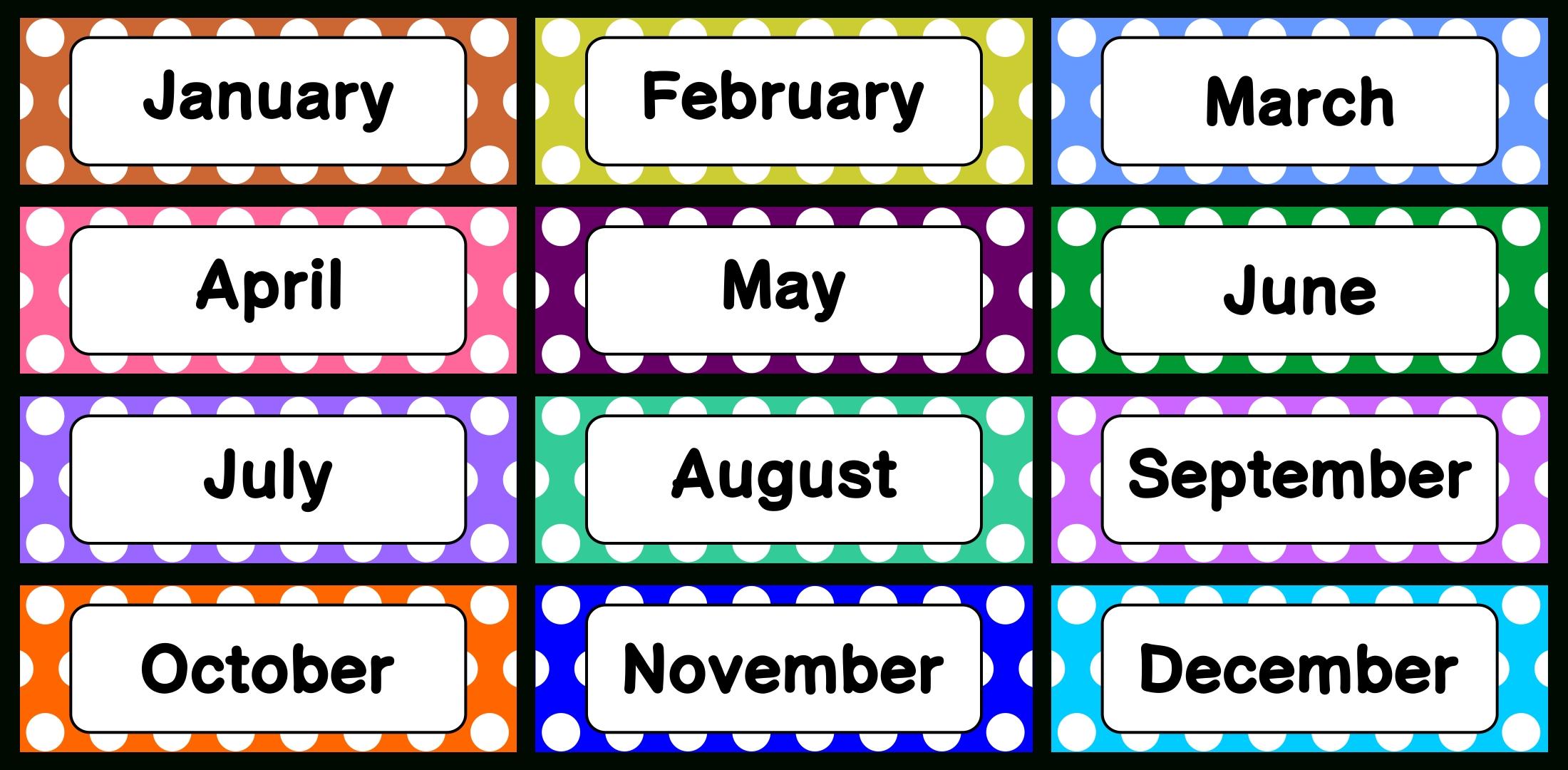 8 Best Printable Calendar Month Labels - Printablee
