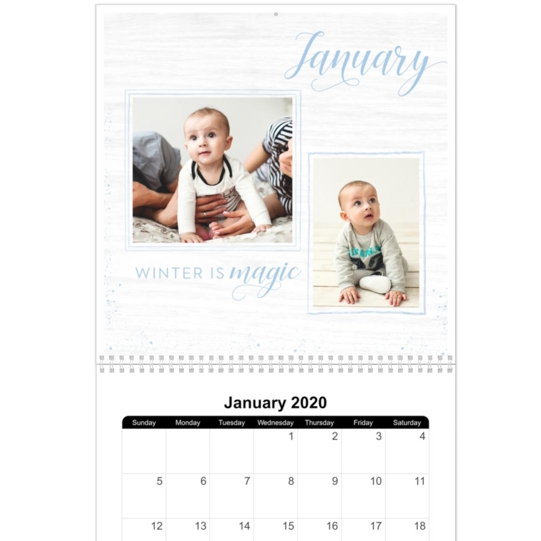 8X11, 12 Month Photo Calendar