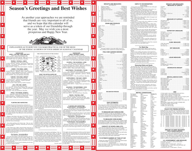 American Original Almanac Calendar