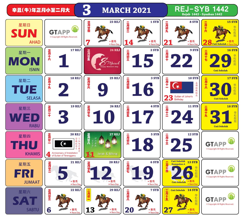 Anda Boleh Mula Dapatkan Kalender 'Kuda' Bagi Tahun 2021