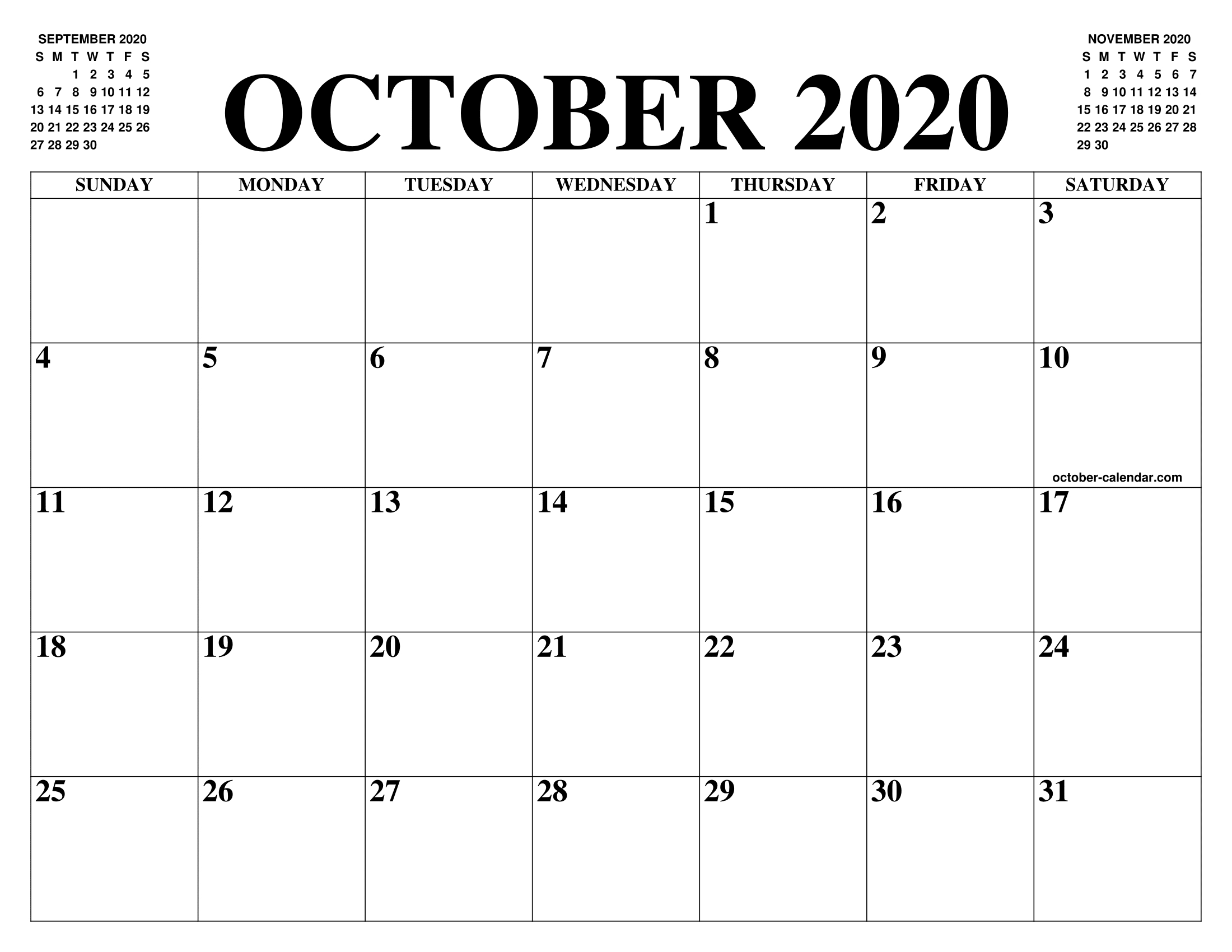 Are You Looking For The Month Of October Calendar To