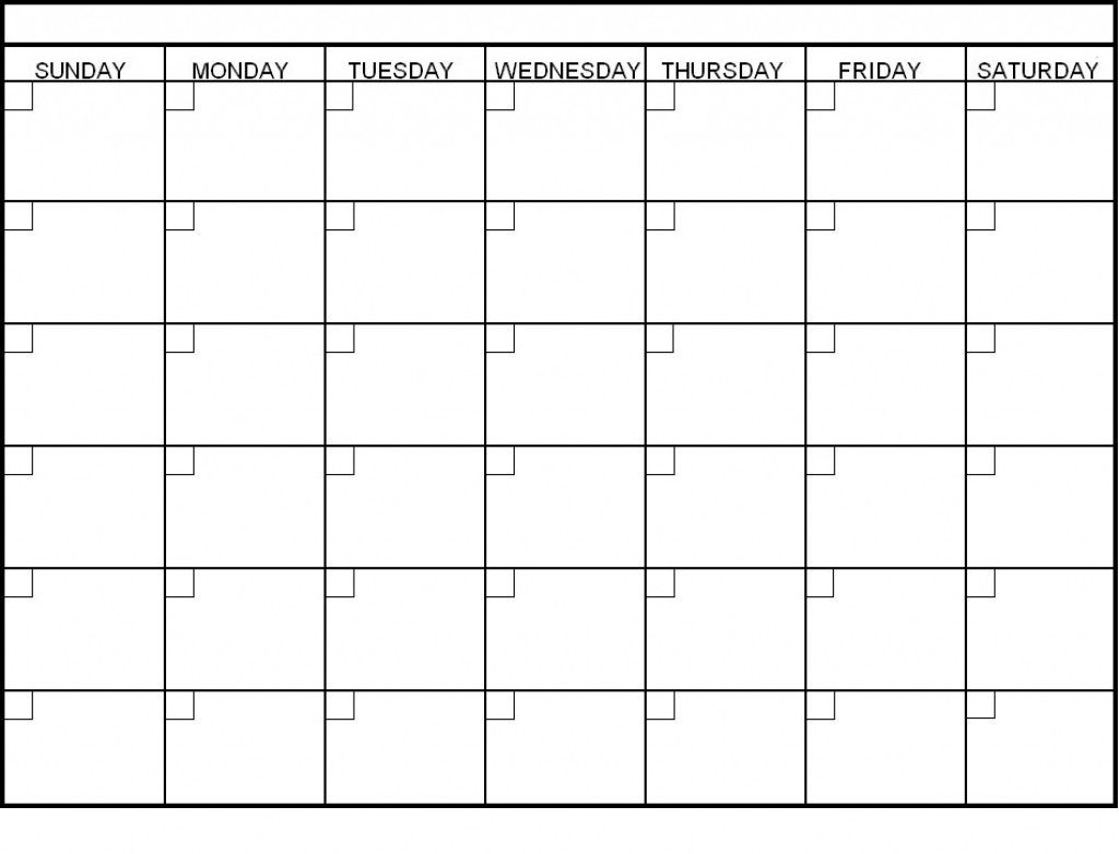 Blank Calendar 6 Weeks Start On Sunday | Template Calendar