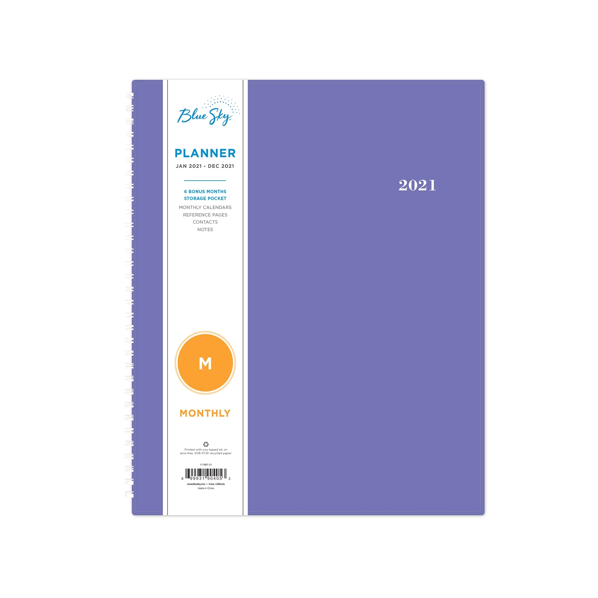 """Blue Sky 2021 8.5"""" X 11"""" Monthly Planner, Reflections - Walmart"""