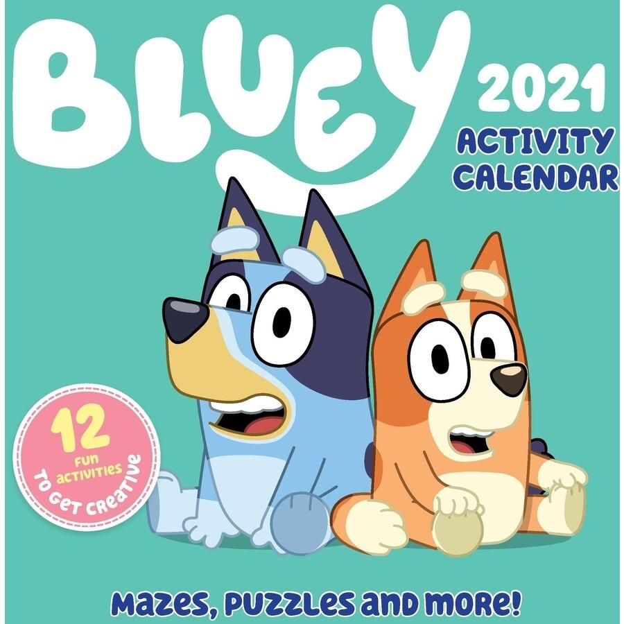 Bluey Acivity Calendar 2021 Square Wall Calendar