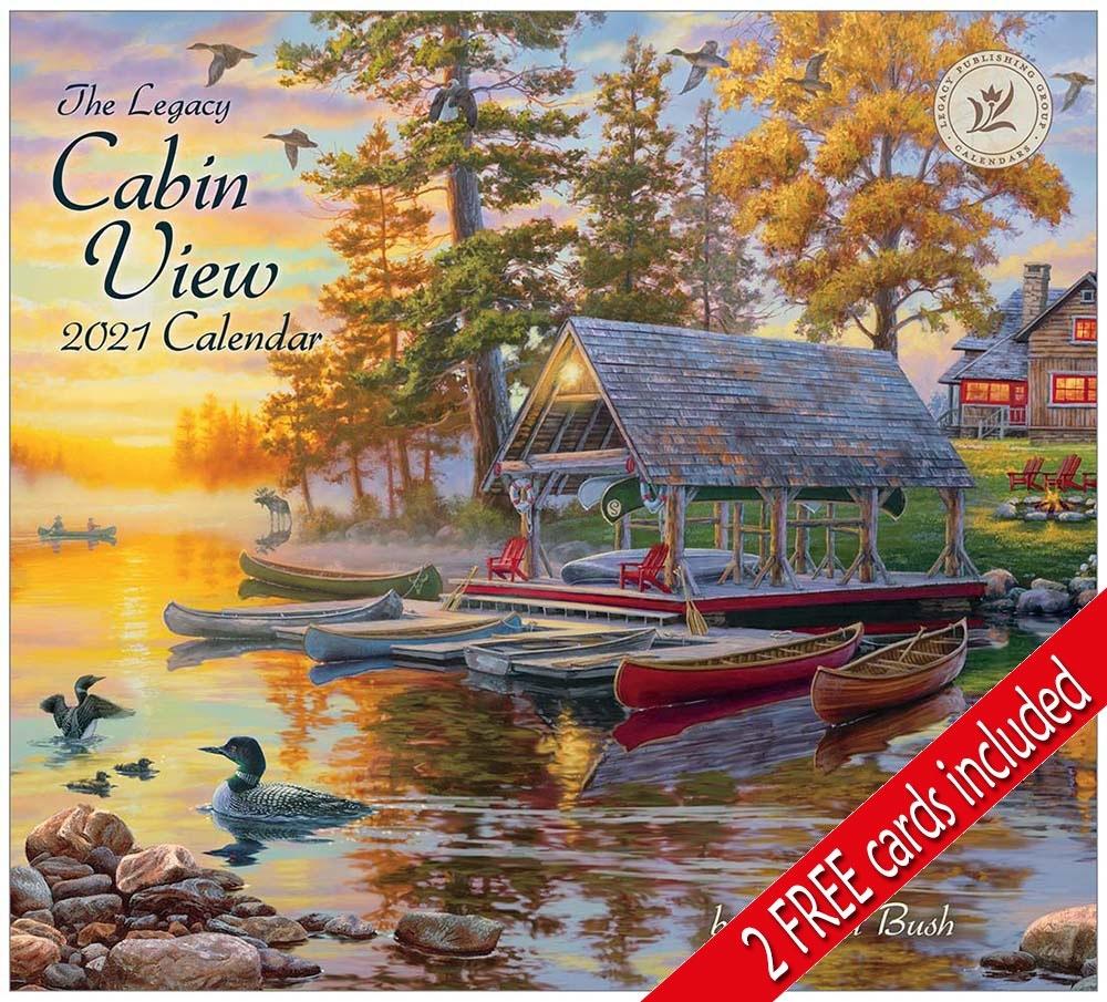 Cabin View 2021 Wall Calendar