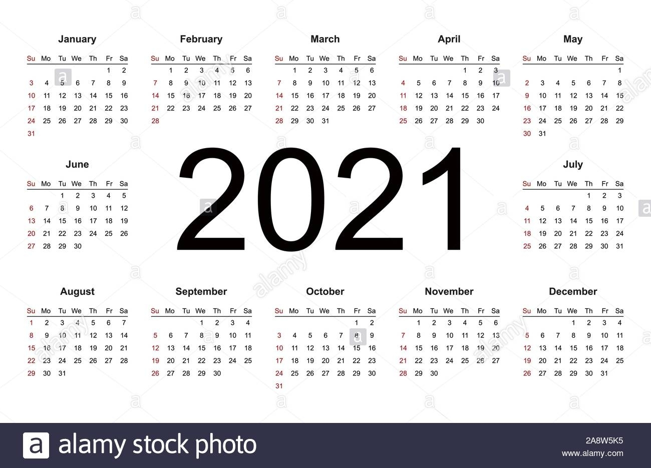 Calendar 2021 High Resolution Stock Photography And Images