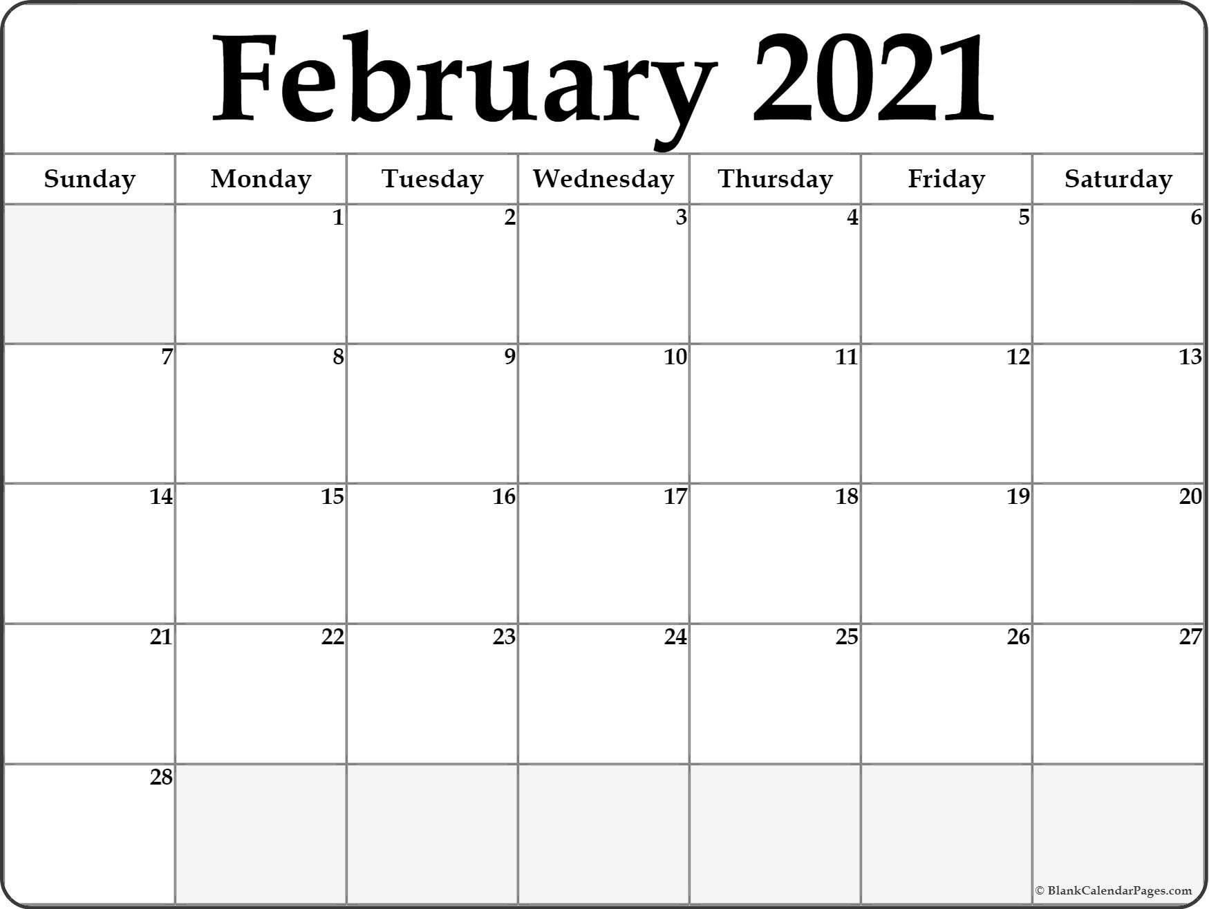 Calendar 2021 January February Blank In 2020 | Calendar