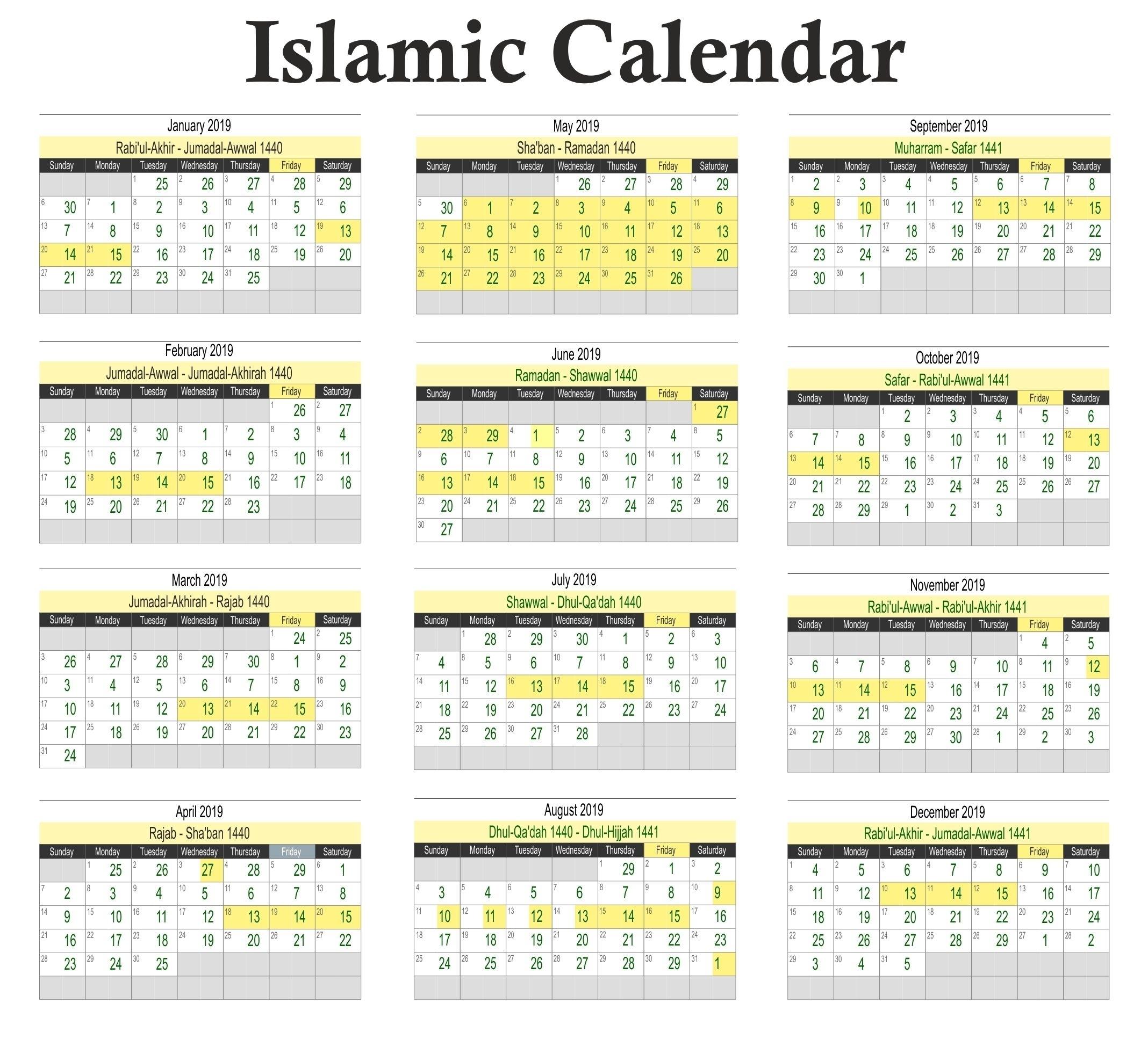 Calendar Bulan Islam 2019 | Root Author At Download Free
