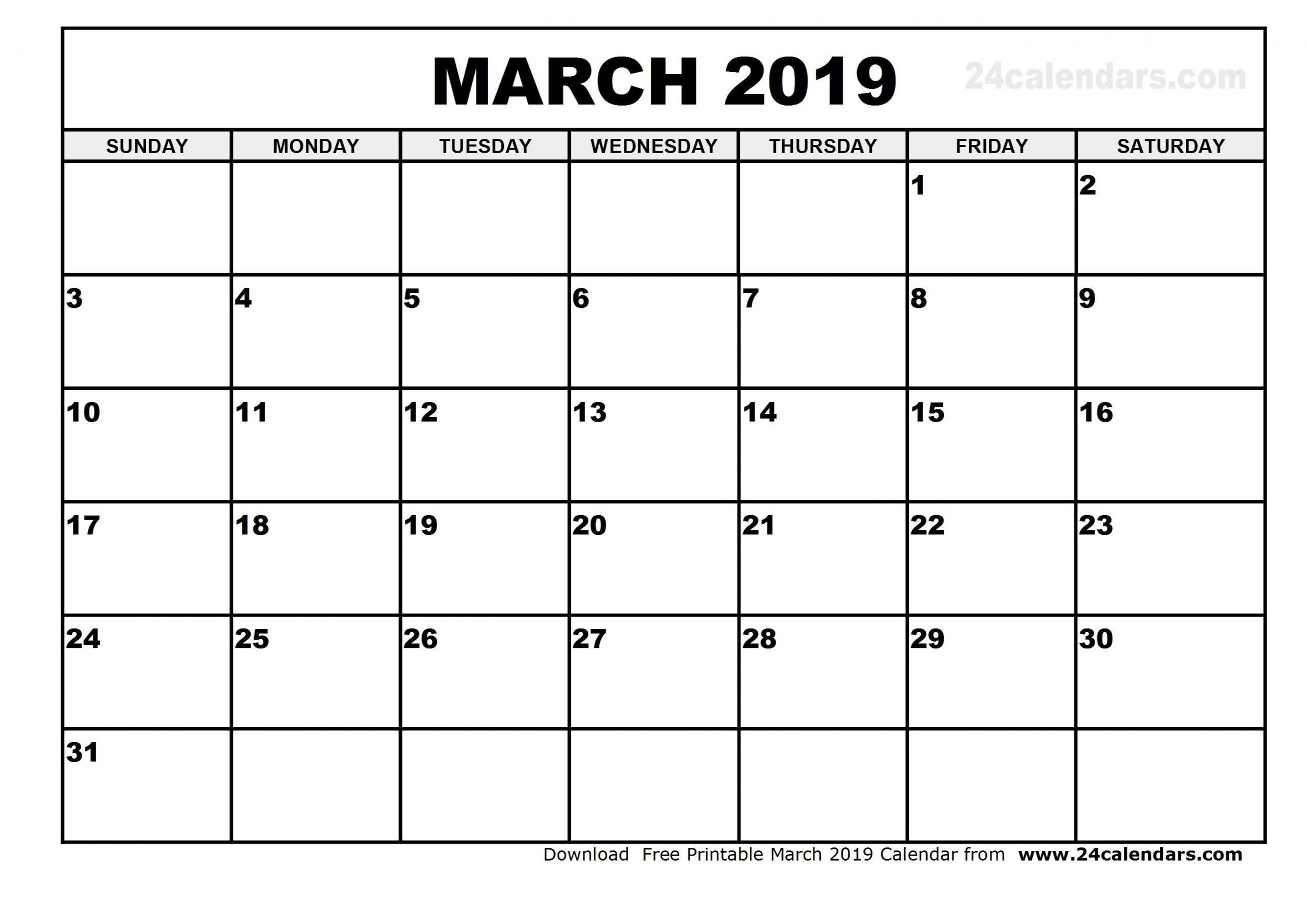 Calendar March 2019 Australia  | Calendar Printables