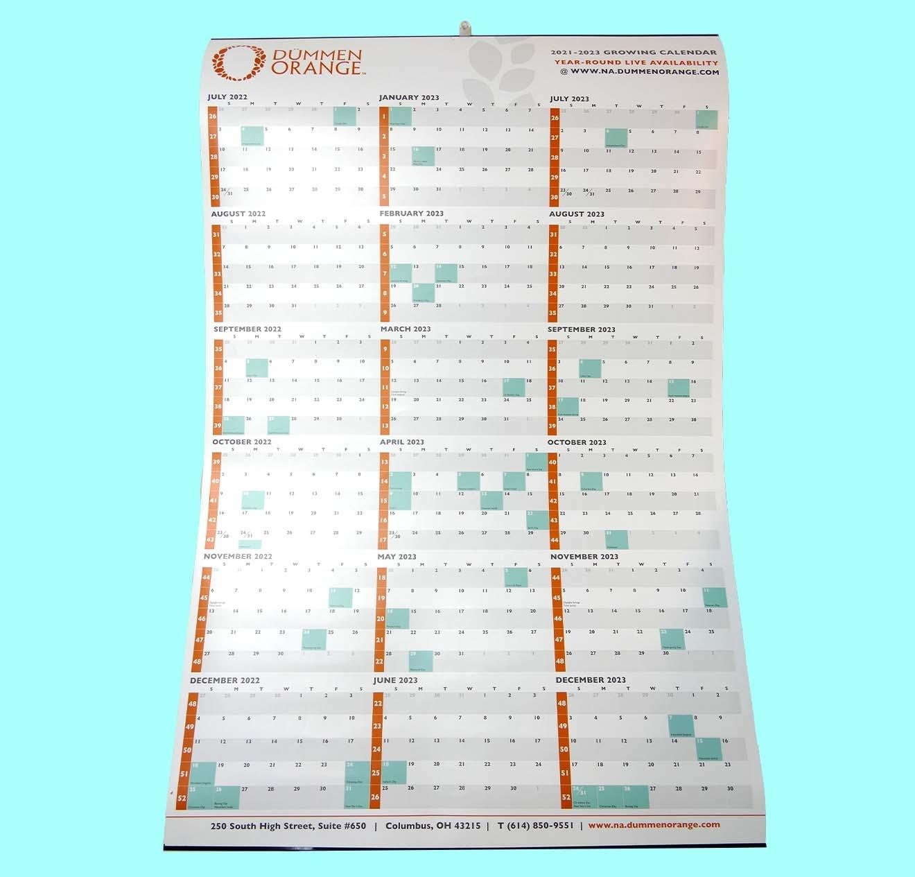 Calendar Tinning - Unified Packaging - Metal Calendar Strip