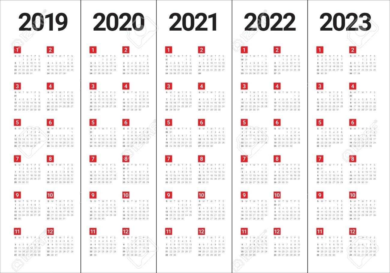 Calendar Years 2019 2020 2021 2022 2023 Di 2020