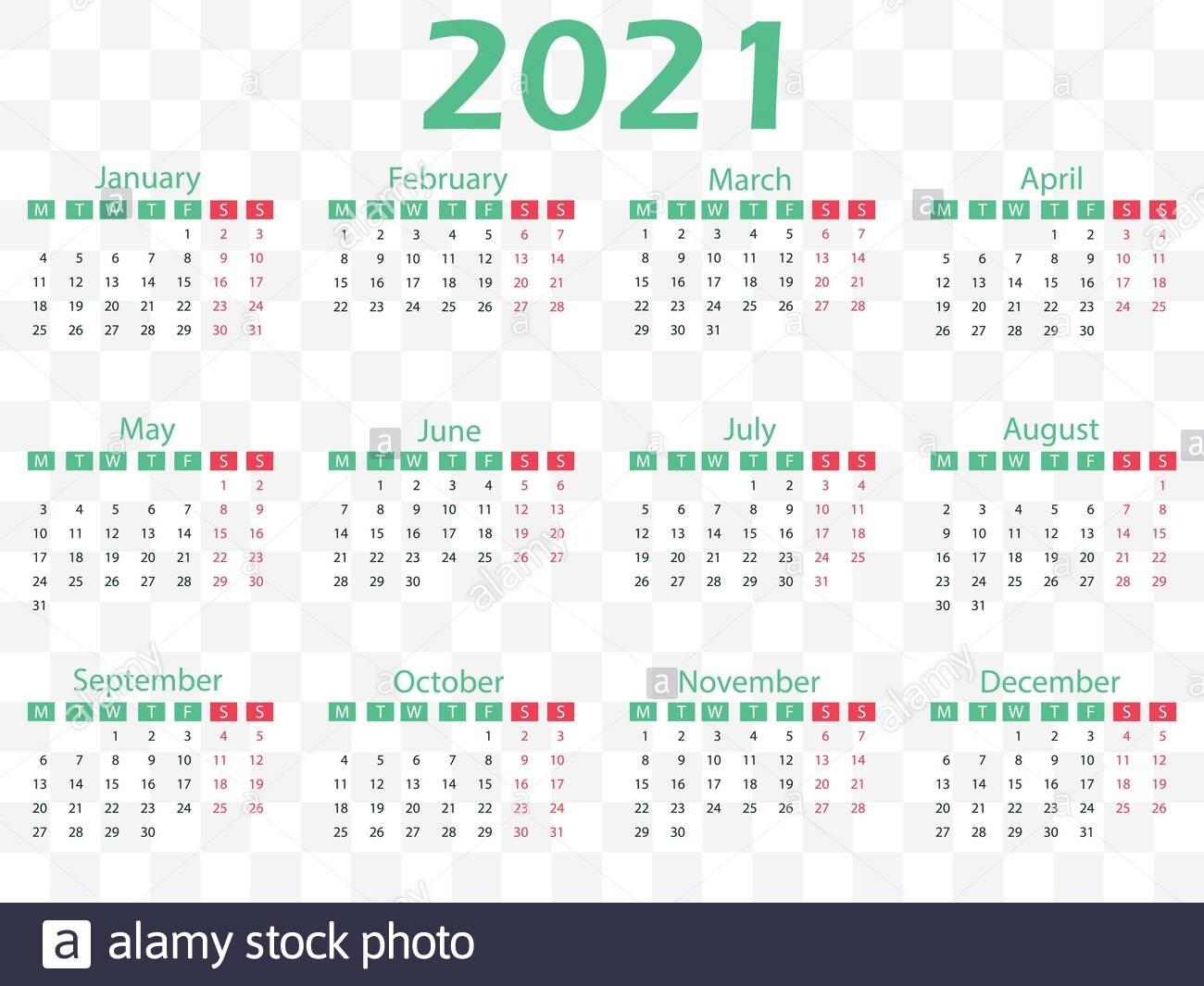 Calendario 2021 Fotos E Imágenes De Stock - Alamy