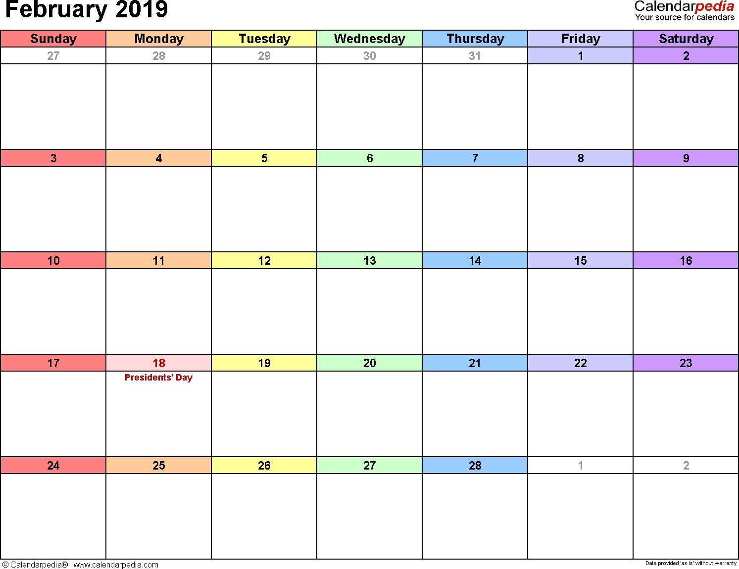 Calendarpedia - Downloadable Calendars - Yearly/Monthly