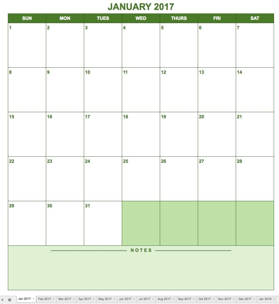 Creating A Calendar In Google Docs Is As Easy As Downloading