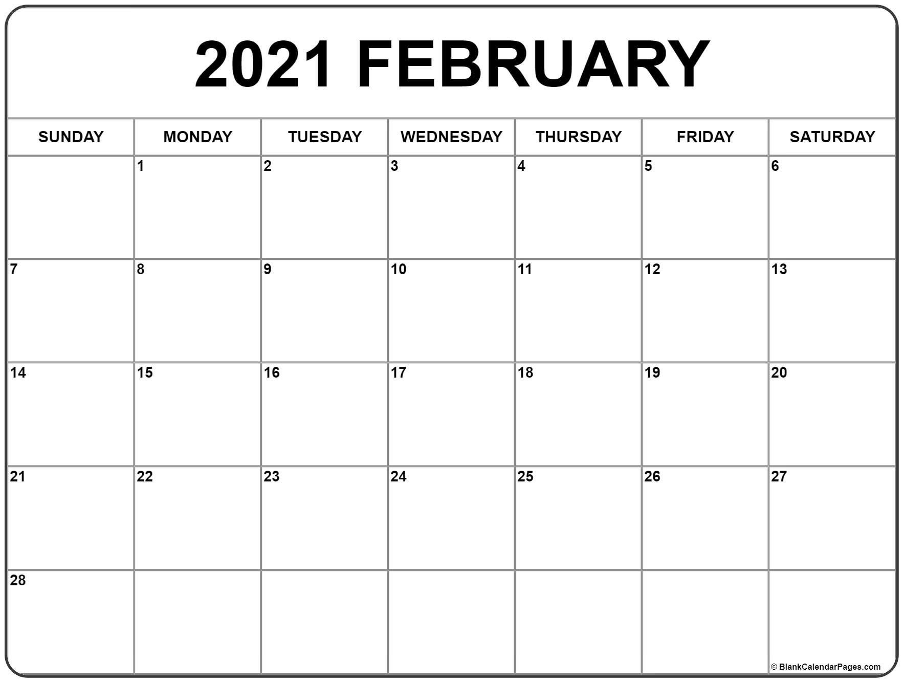 Cute February 2021 Calendar In 2020 | Monthly Calendar