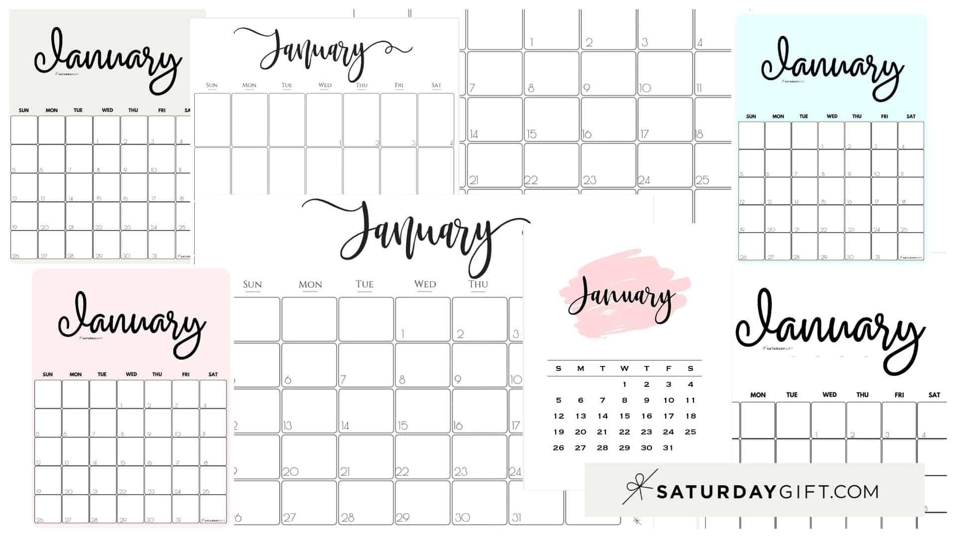 Printable Calendar 2021 Girly