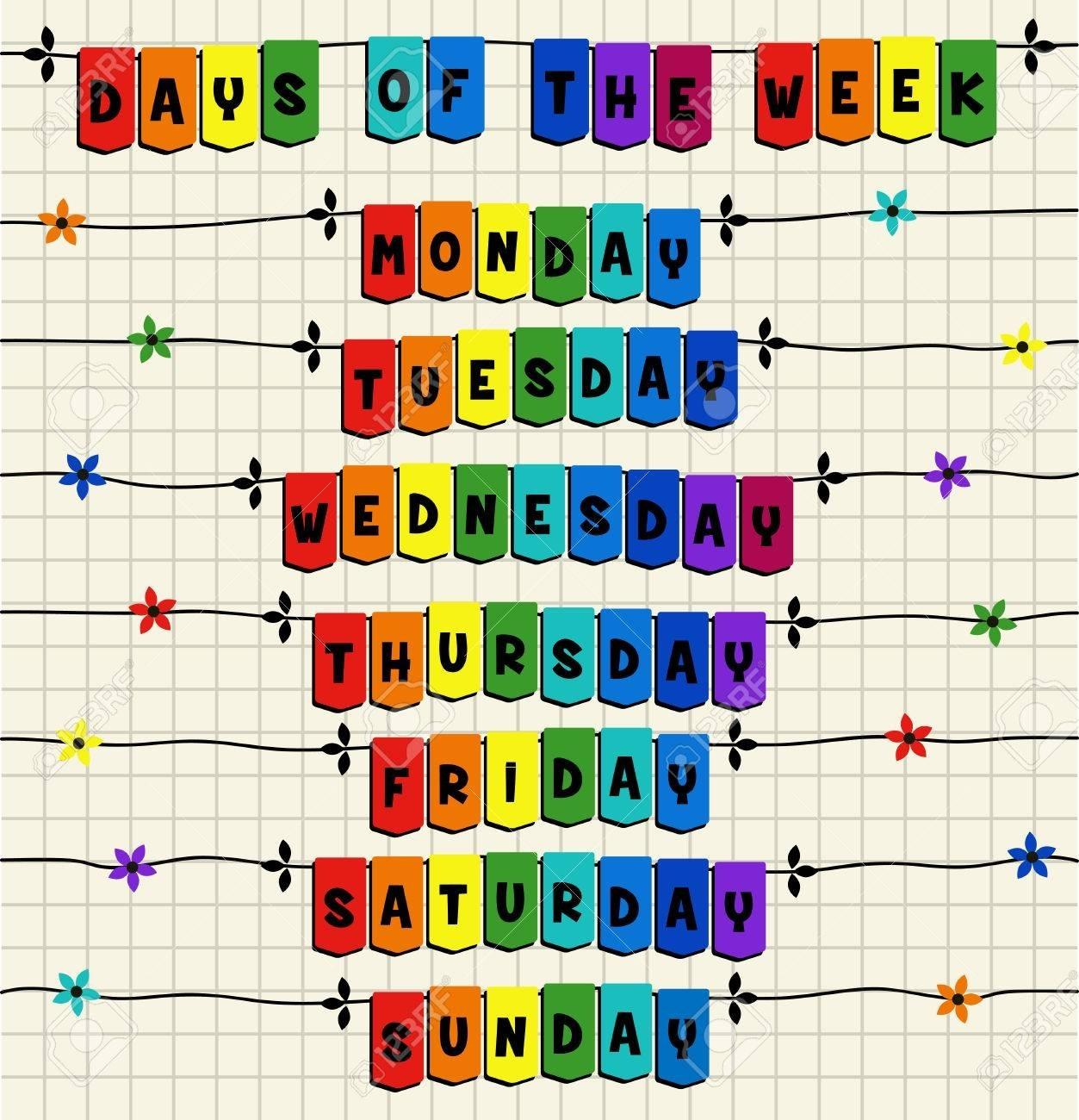 Days Of The Week - Cartoon Template