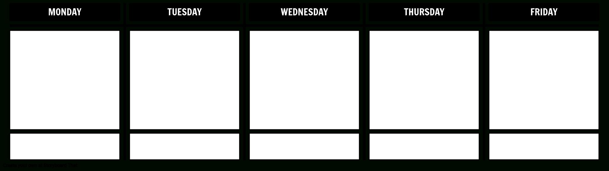 Days Of The Week Storyboardstoryboard-Templates