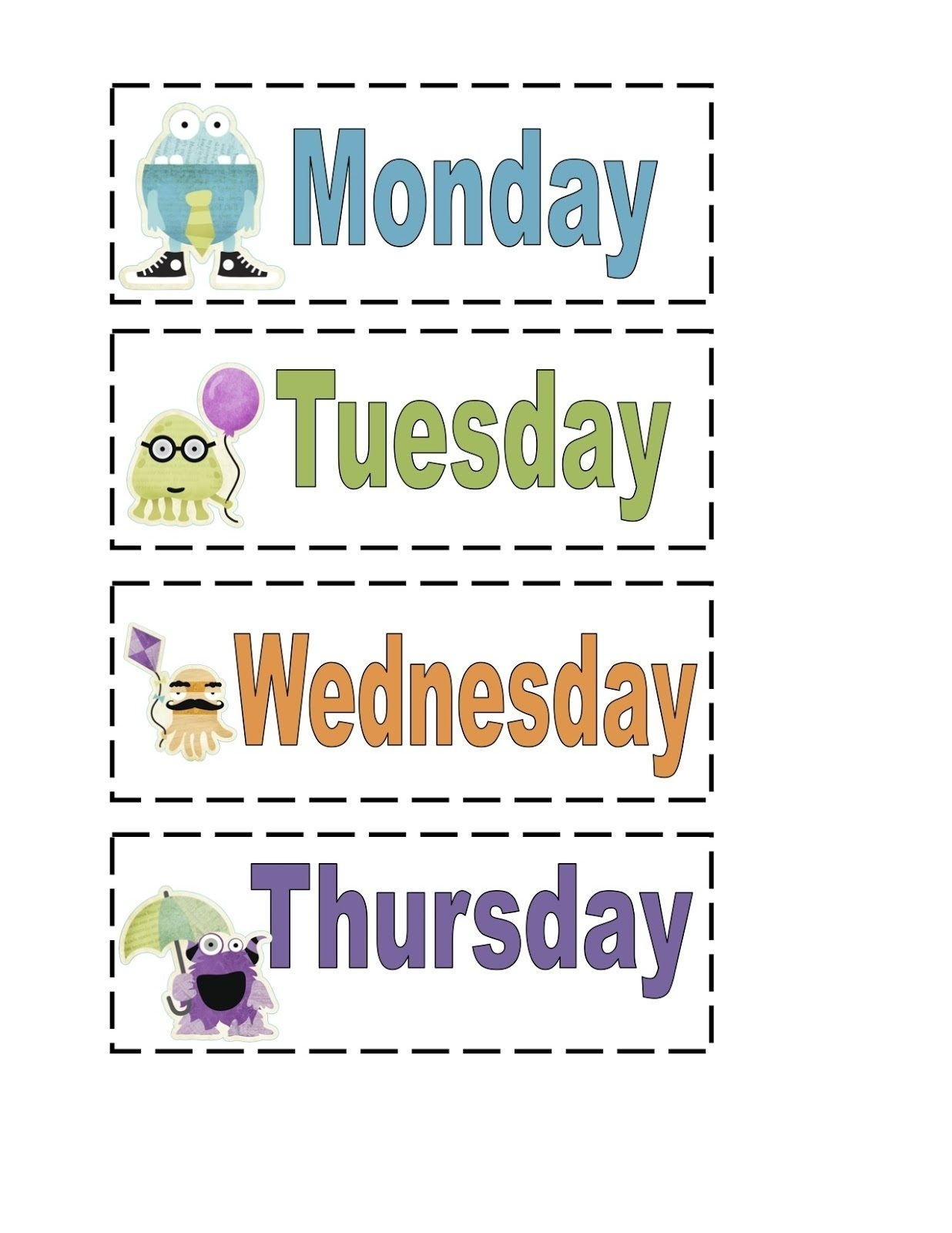 Days Of The Week Worksheets Template Staggering Picture