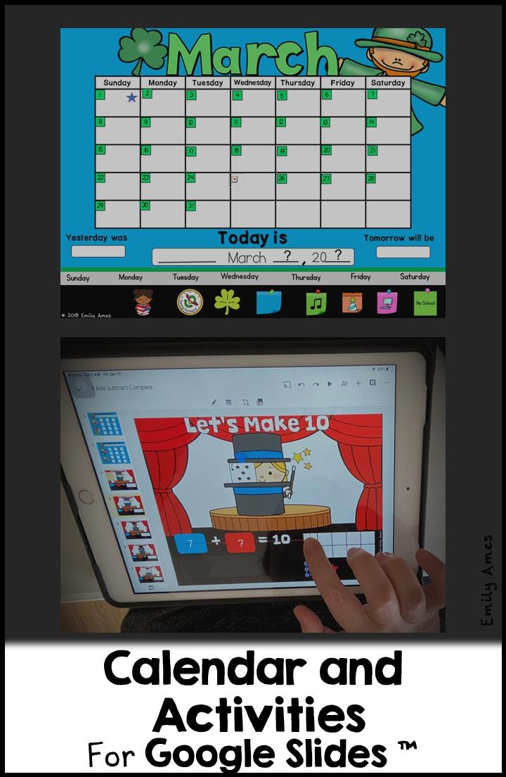 Digital Calendar For Google Slides™ (Distance Learning) In