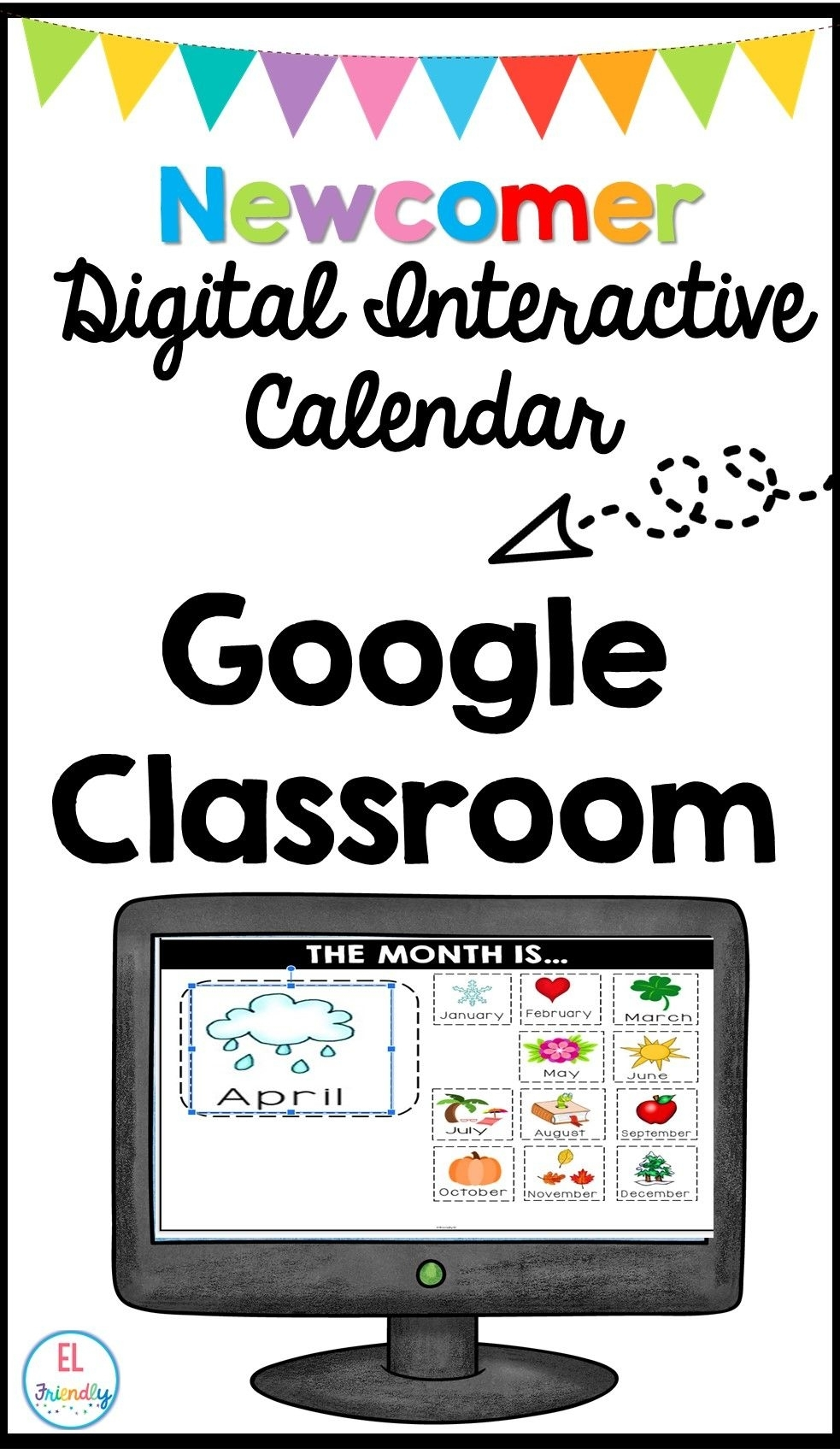 Digital Interactive Calendar English Learners Distance