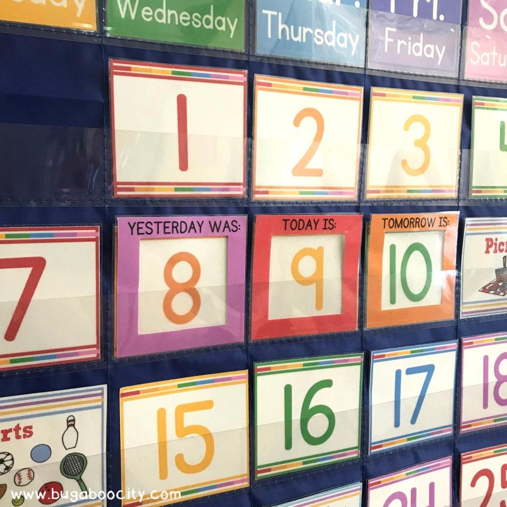 Diy Calendar Pocket Chart - Crafting Cheerfully