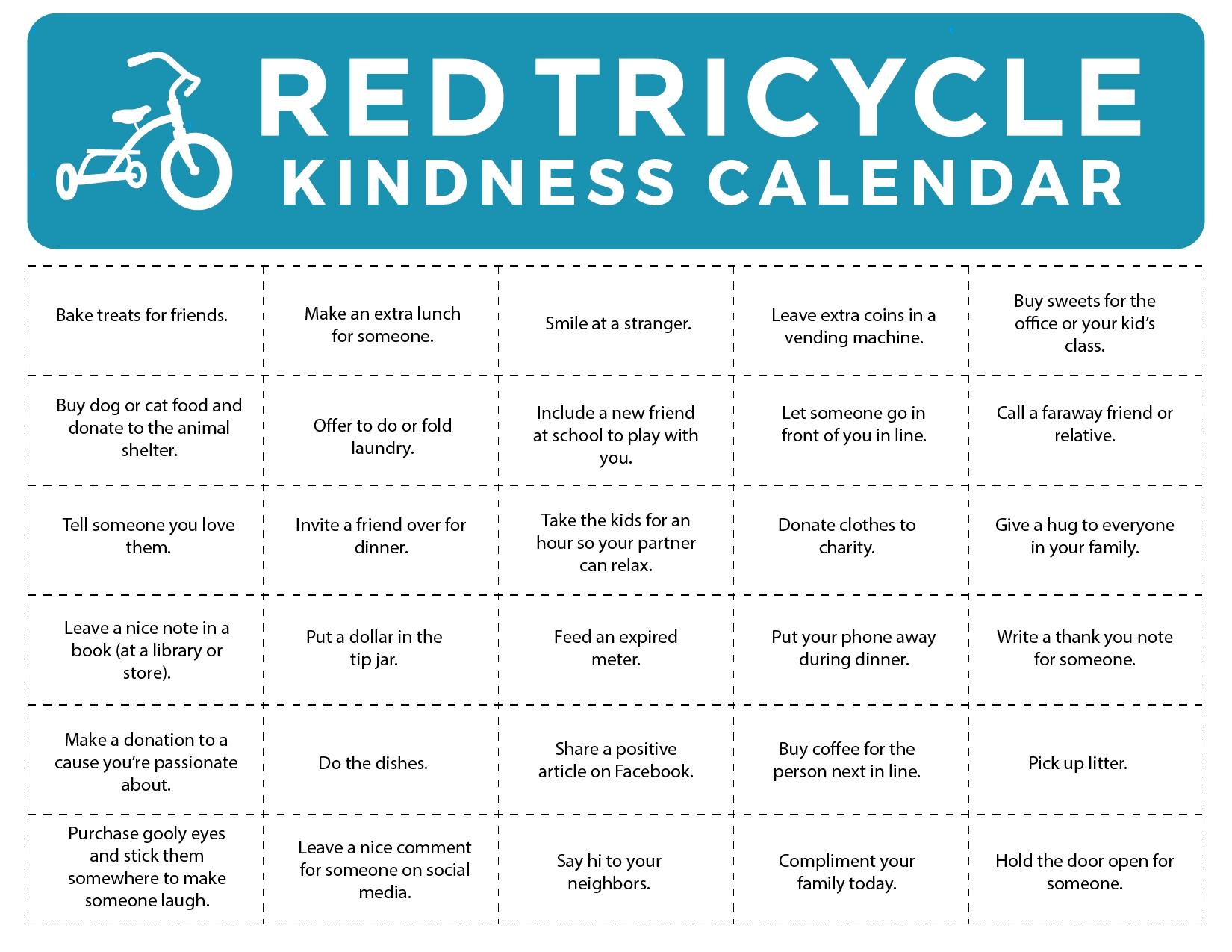 Download Our Kindness Calendar!