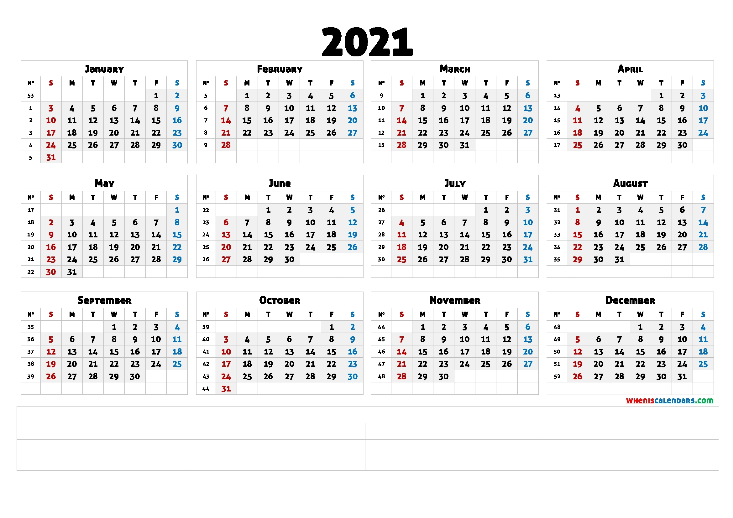 Downloadable 2021 Monthly Calendar (6 Templates) – Free 2020