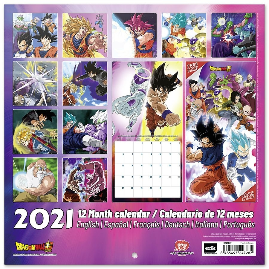 Dragon Ball Calendar 2021 - Calendars Buy Now In The Shop